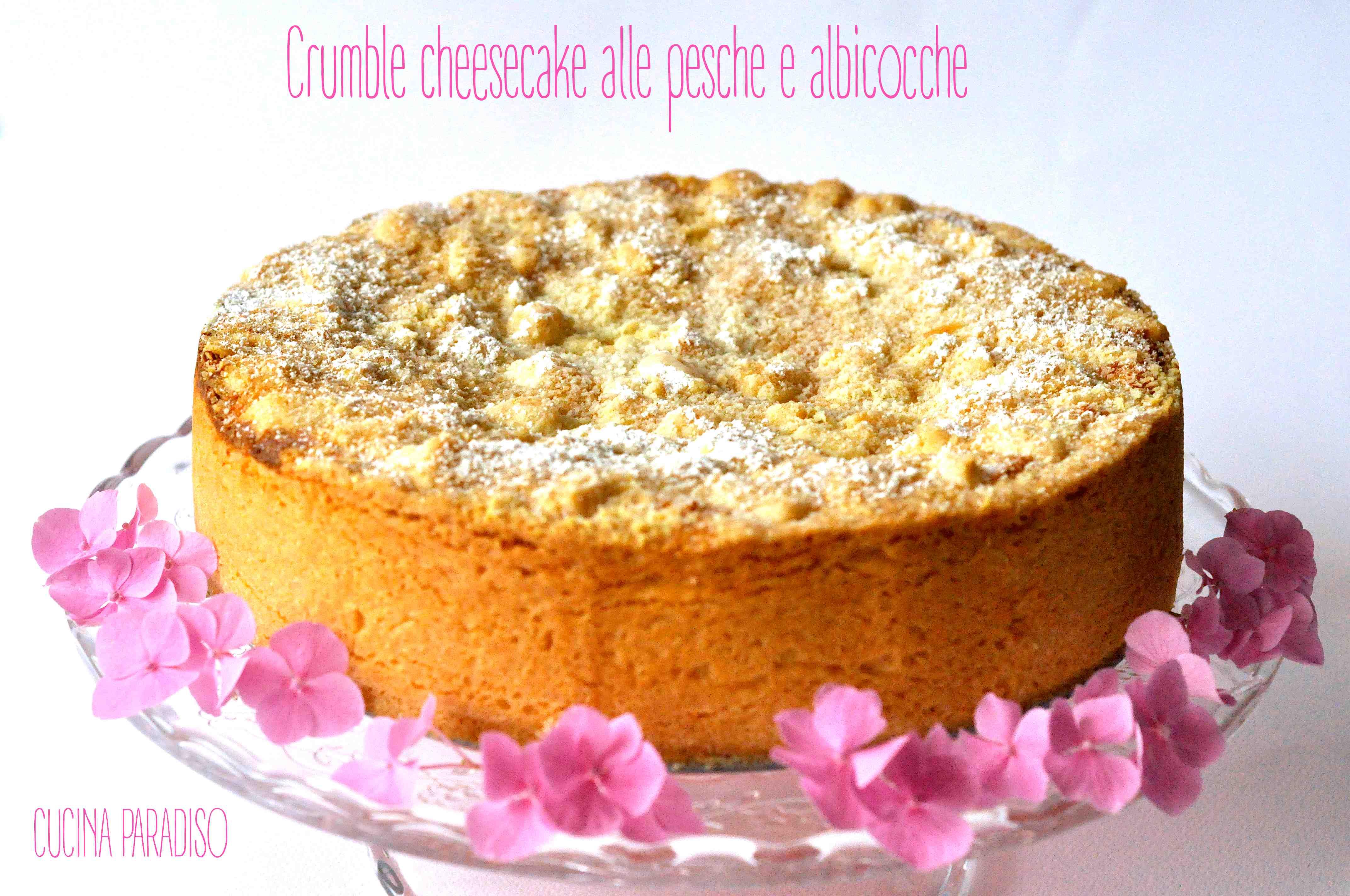 Crumble cheesecake alle pesche e albicocche2