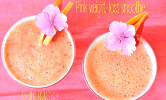 Pink weight-loss smoothie