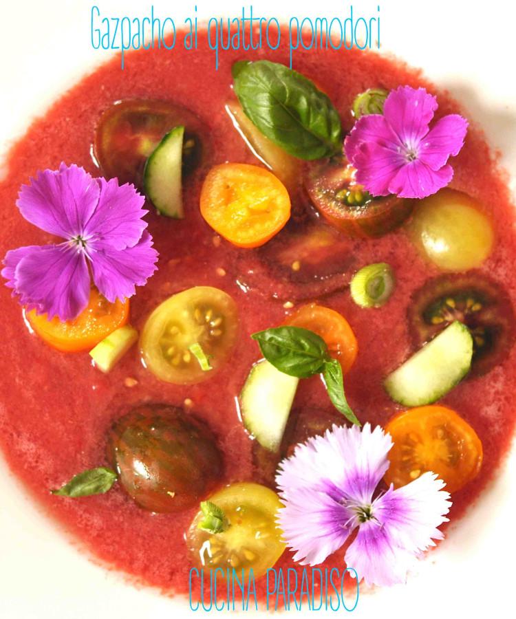 Gazpacho ai quattro pomodori