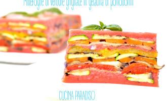 Millefoglie di verdure grigliate in gelatina di pomodorini2