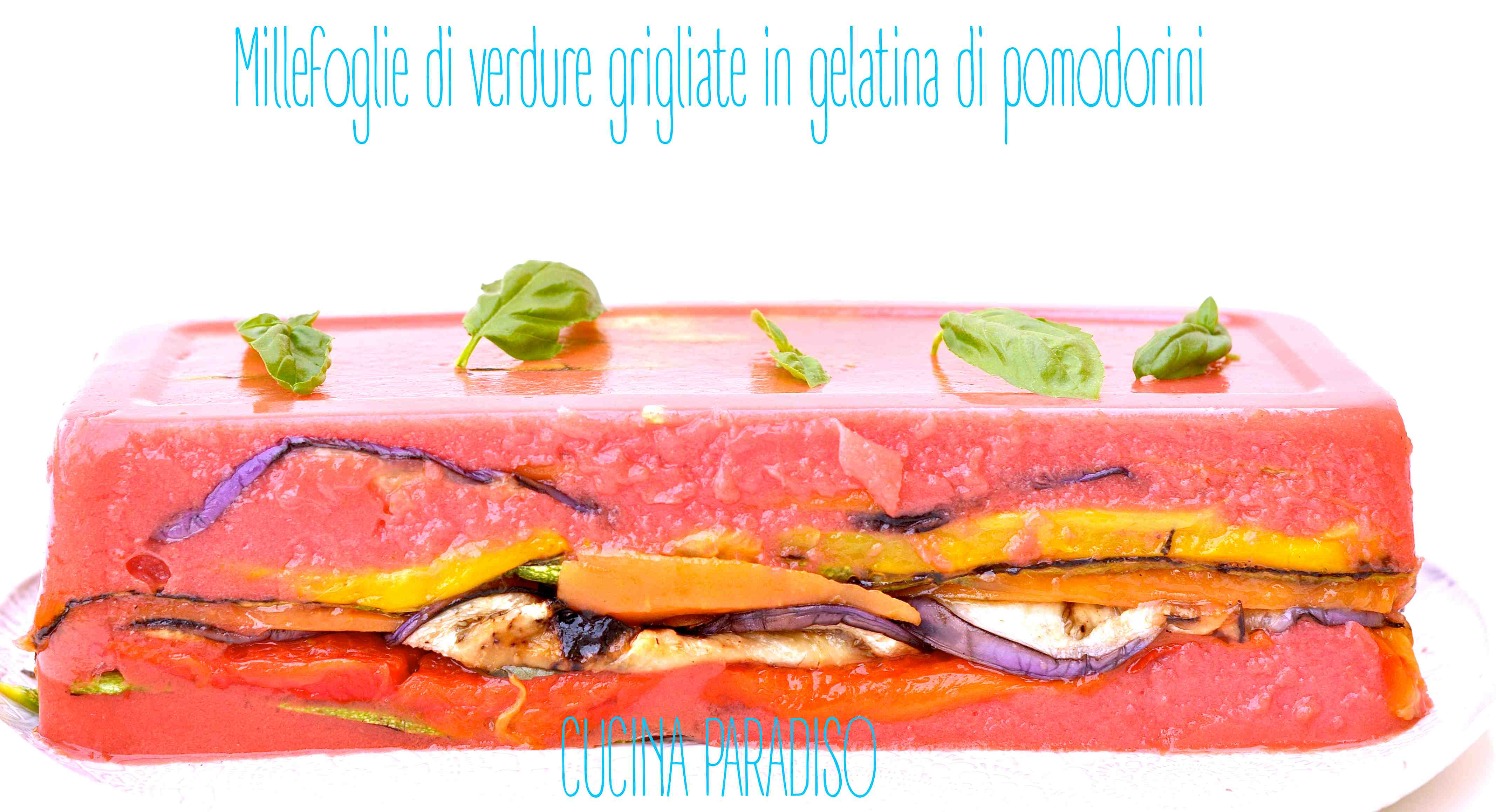 Millefoglie di verdure grigliate in gelatina di pomodorini3