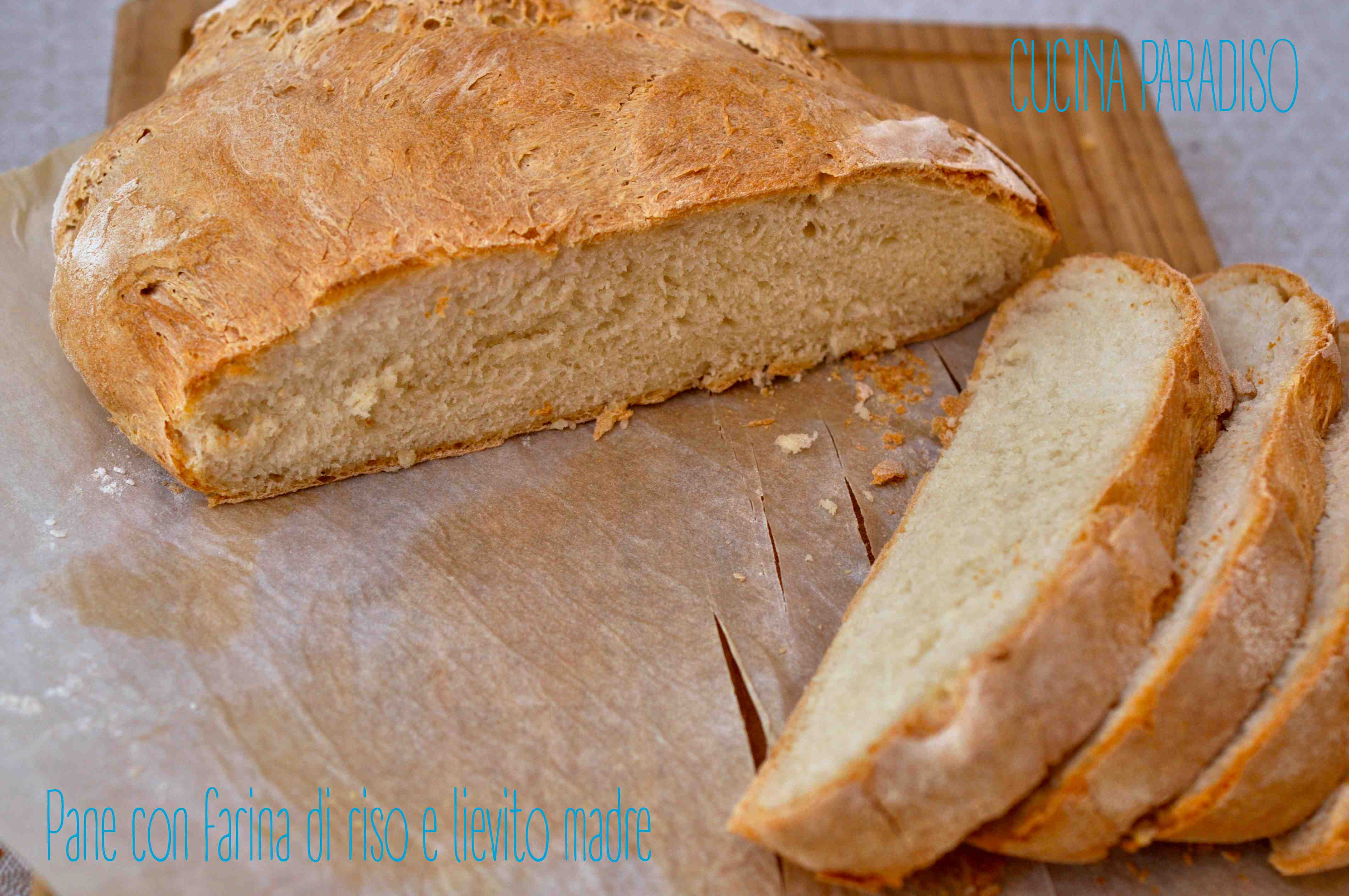 Pane con farina di riso e lievito madre3