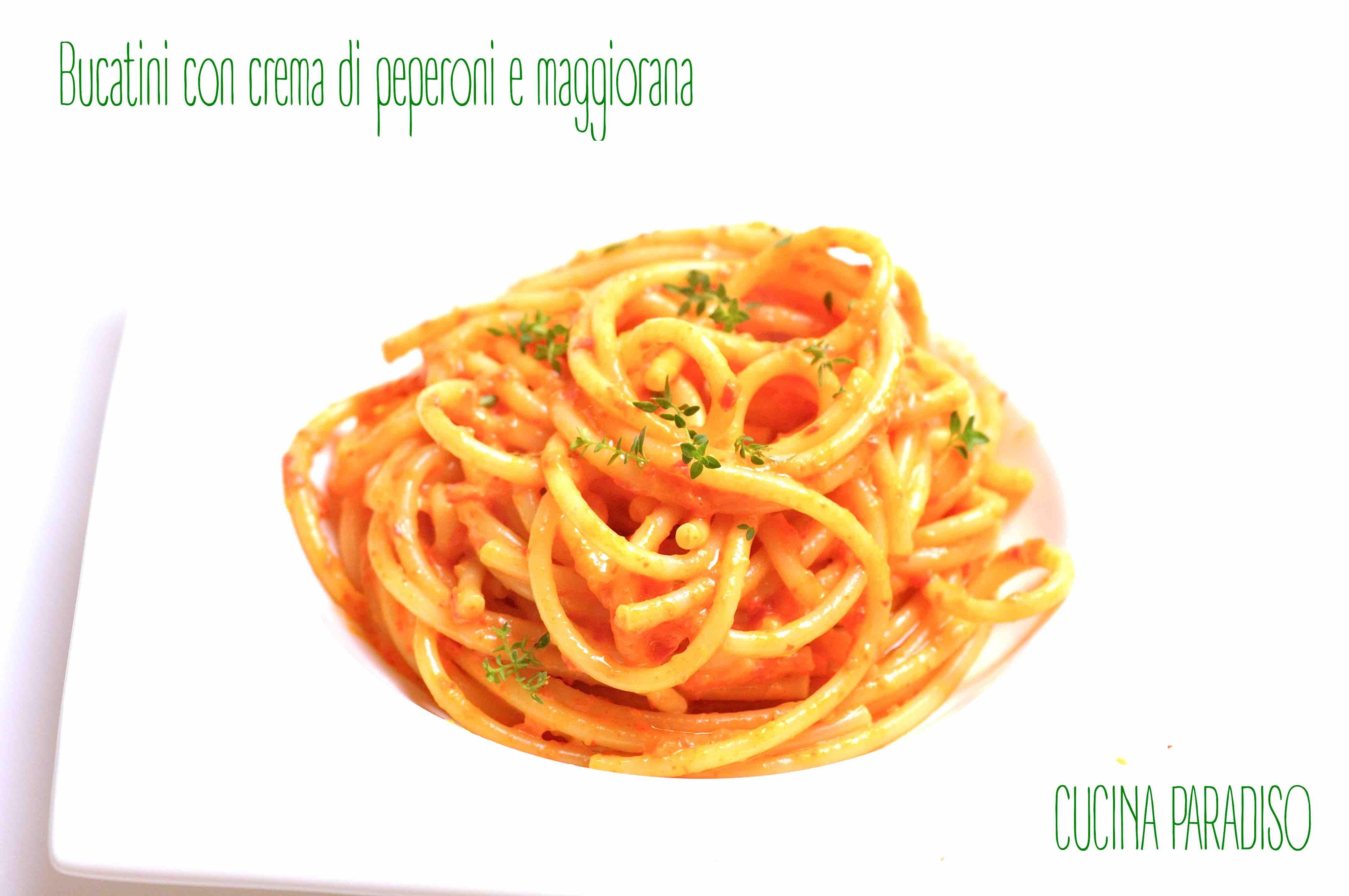 Bucatini con crema di peperoni e maggiorana2