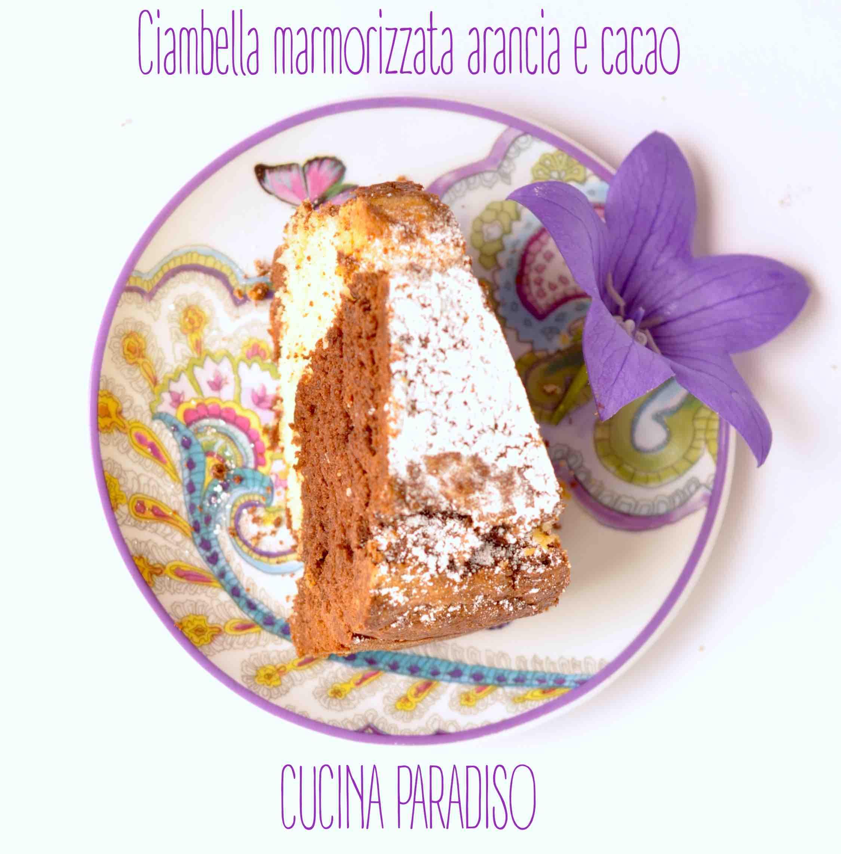 Ciambella marmorizzata arancia e cacao
