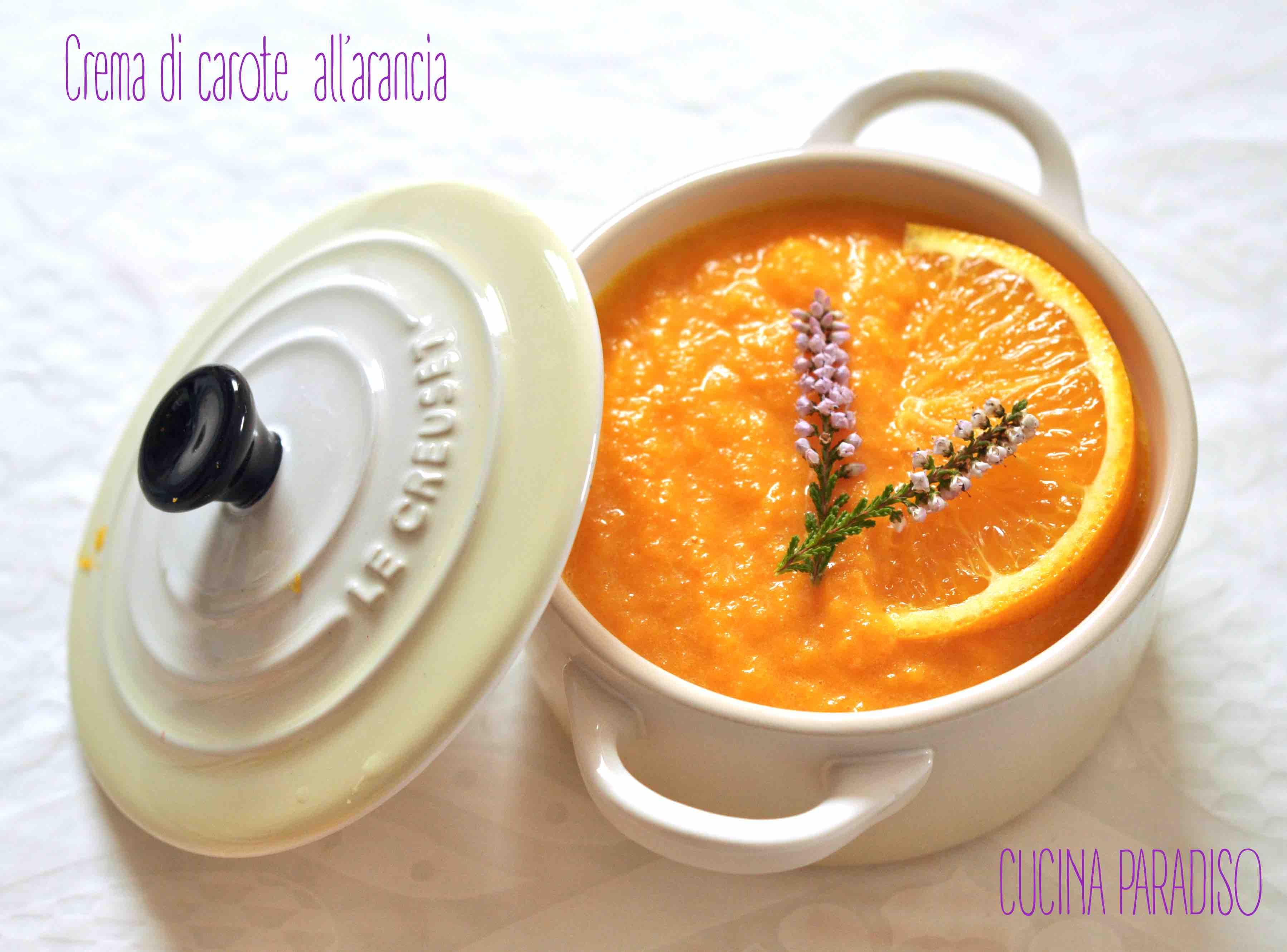 Crema di carote  all'arancia2