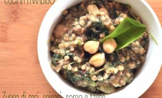 DSC_0051Zuppa di ceci, spinaci, sorgo e tajine