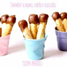 Fiammeferi al sesamo, nutella e cioccolato2