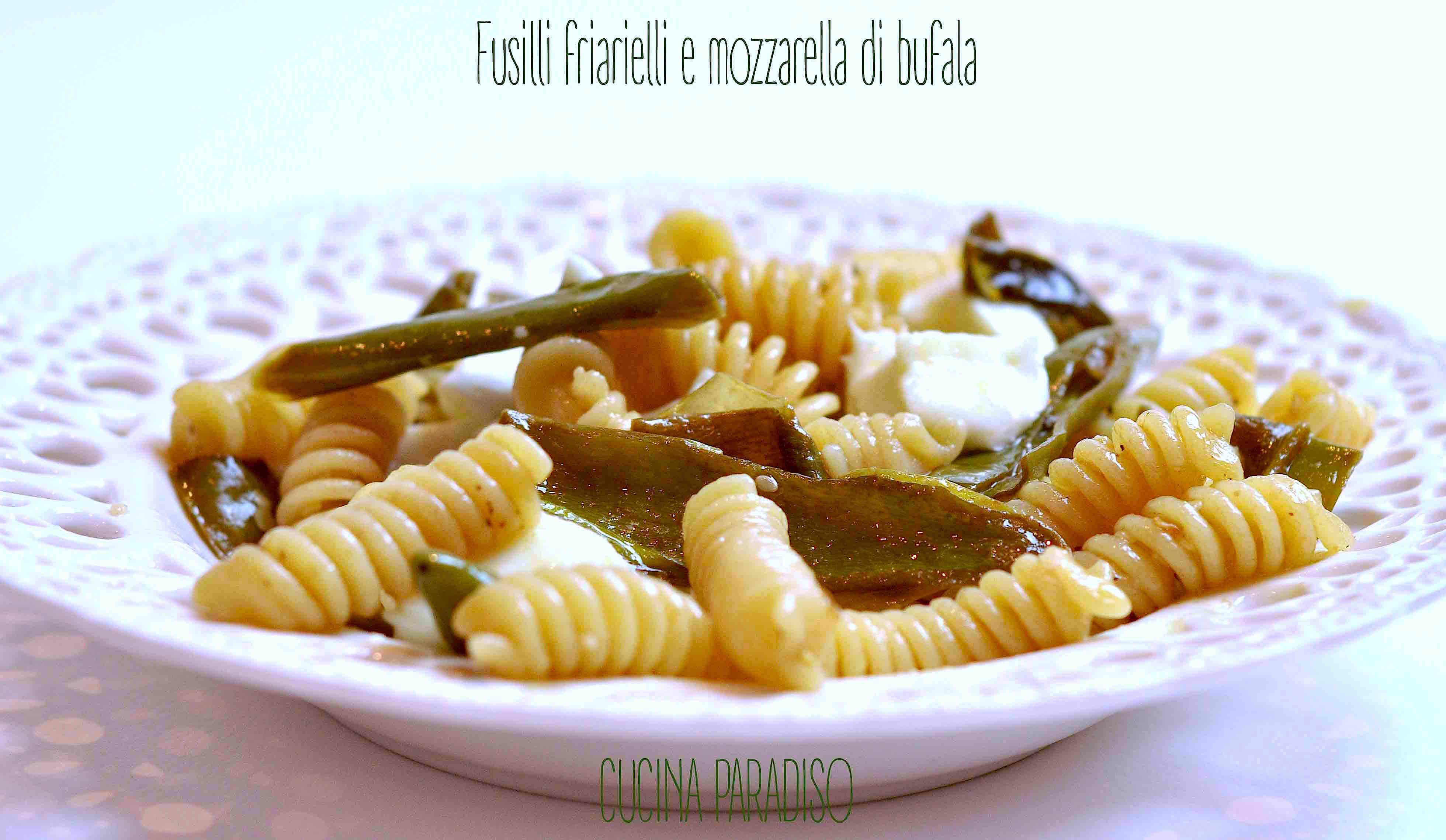 Fusilli friarielli e mozzarella di bufala2
