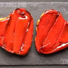 Tatin ai peperoni caramellati al miele