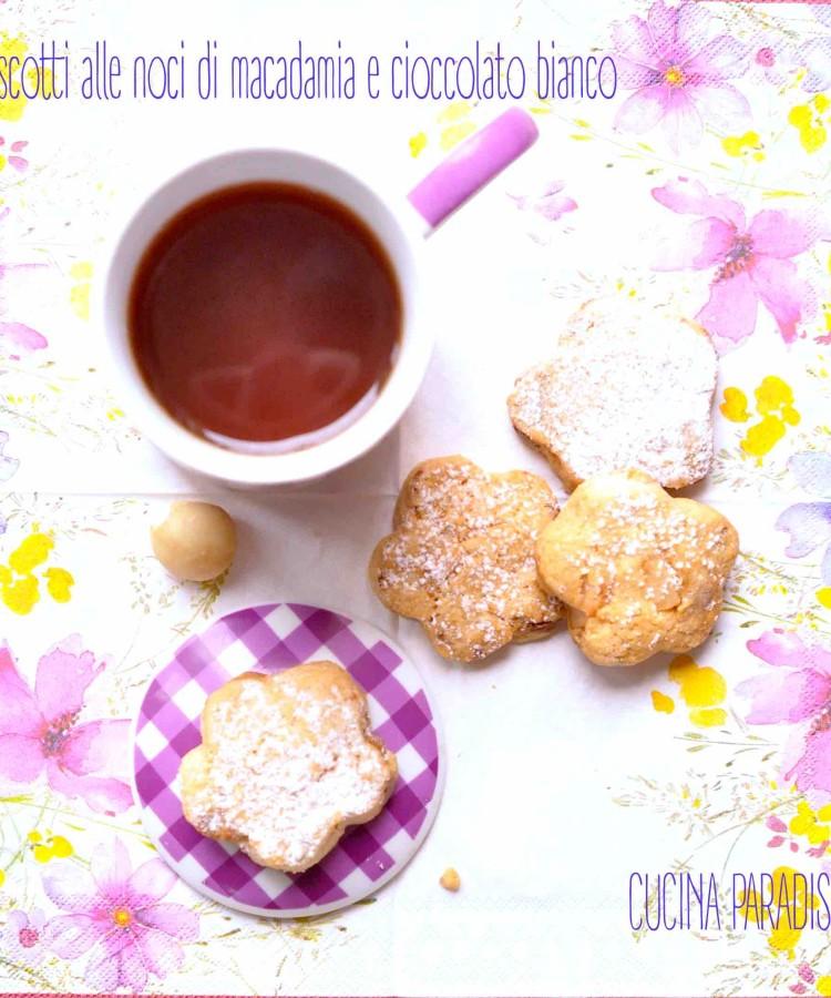 Biscotti alle noci di macadamia e cioccolato bianco