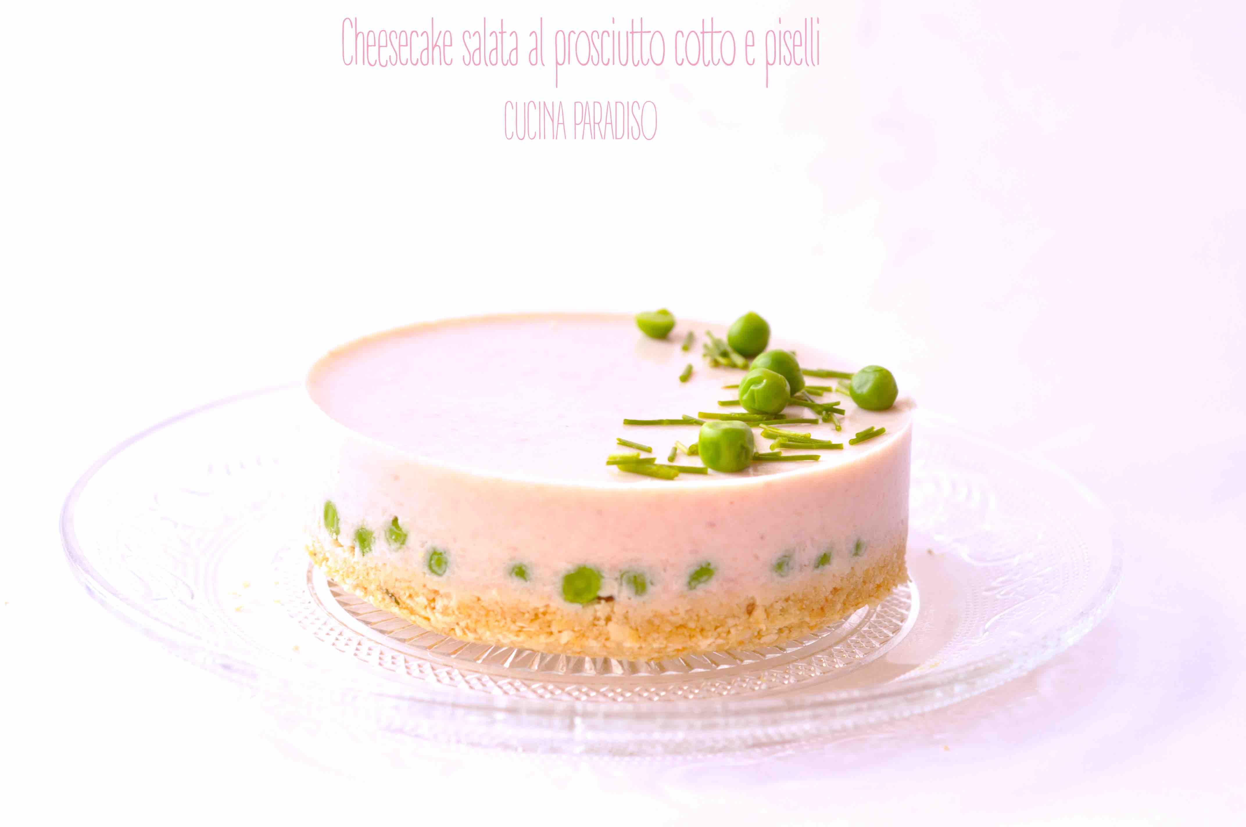 Cheesecake salata al prosciutto cotto e piselli2