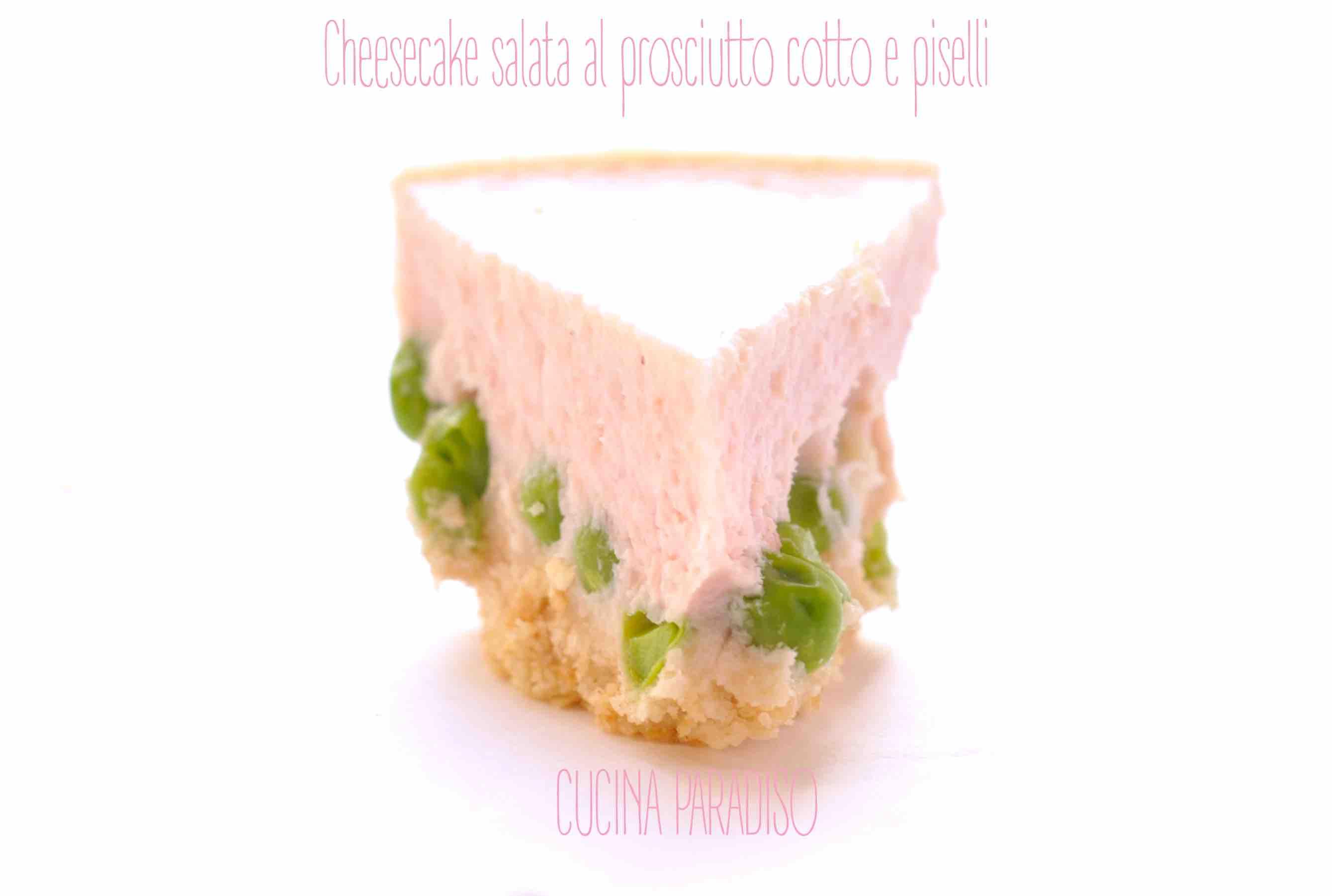 Cheesecake salata al prosciutto cotto e piselli4