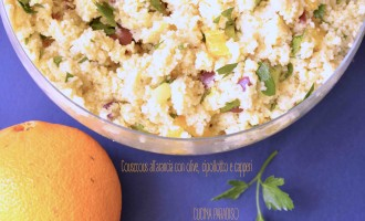 Cousccous all'arancia con olive, cipollotto e capperi2