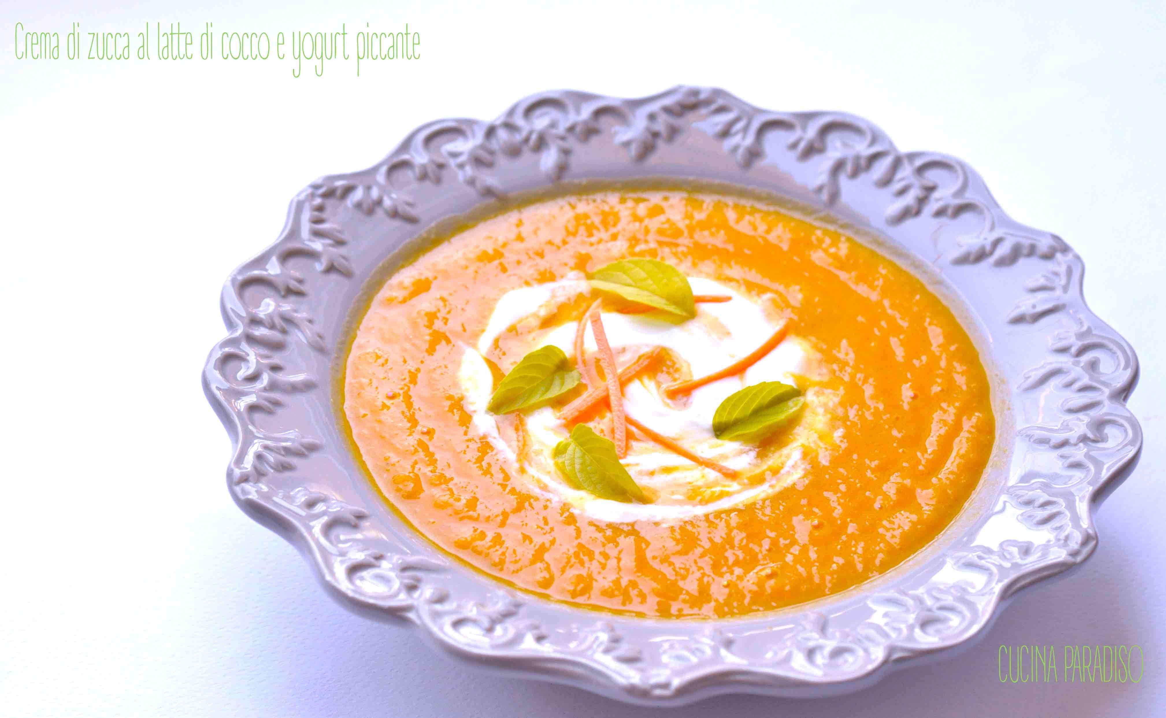 Crema di zucca al latte di cocco e yogurt piccante3