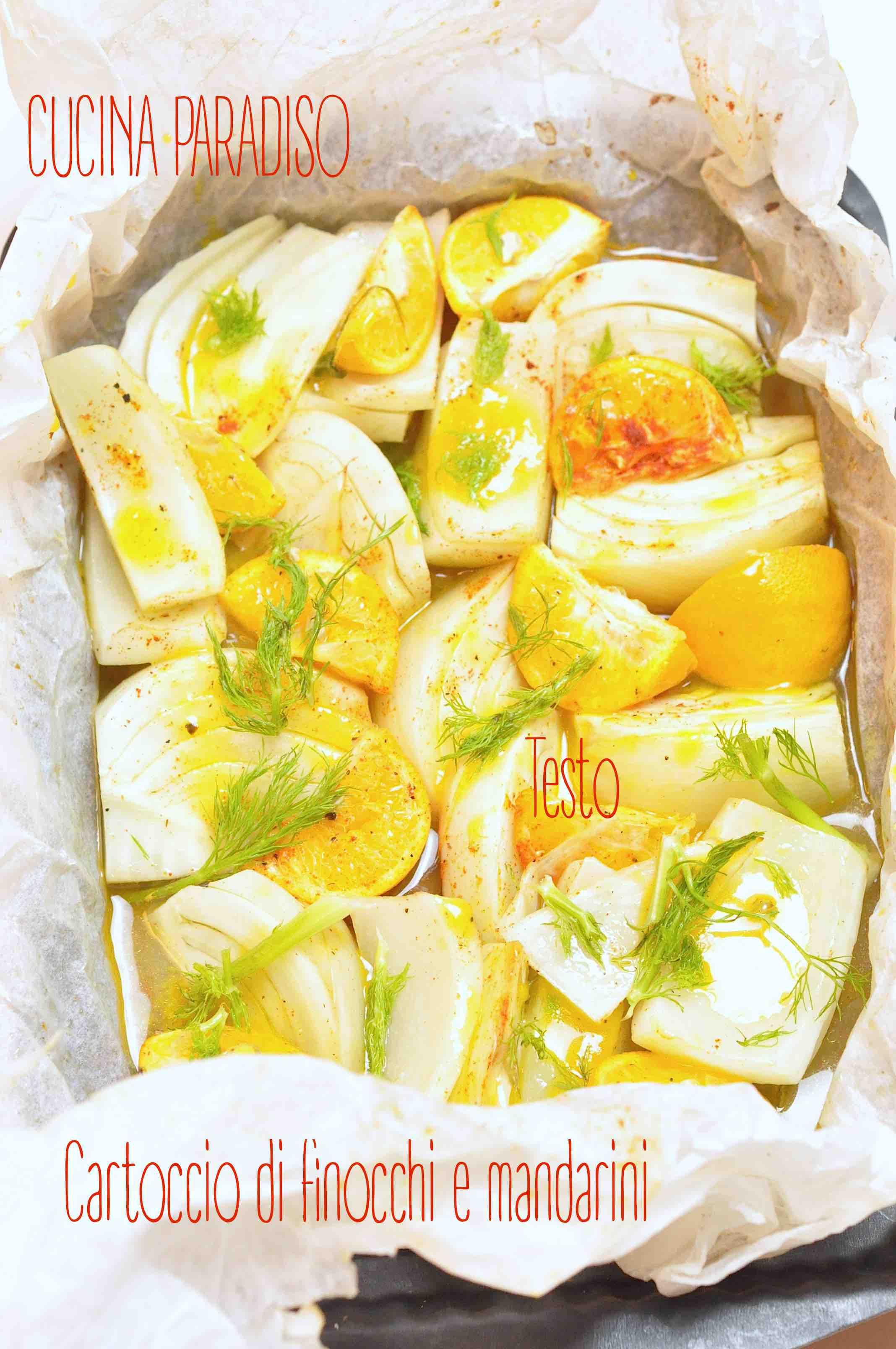 Cartoccio di finocchi e mandarini