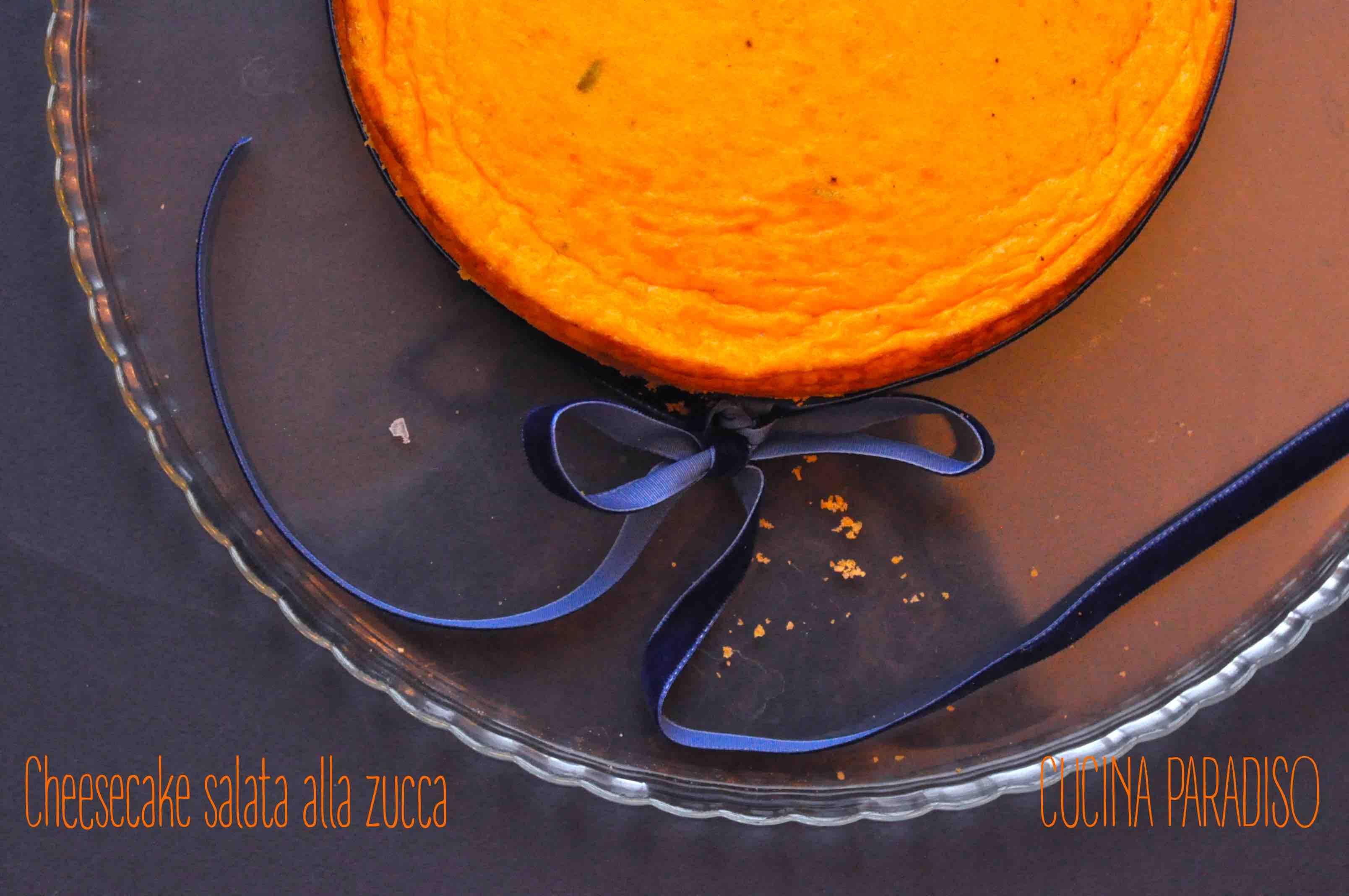 Cheesecake salata alla zucca2