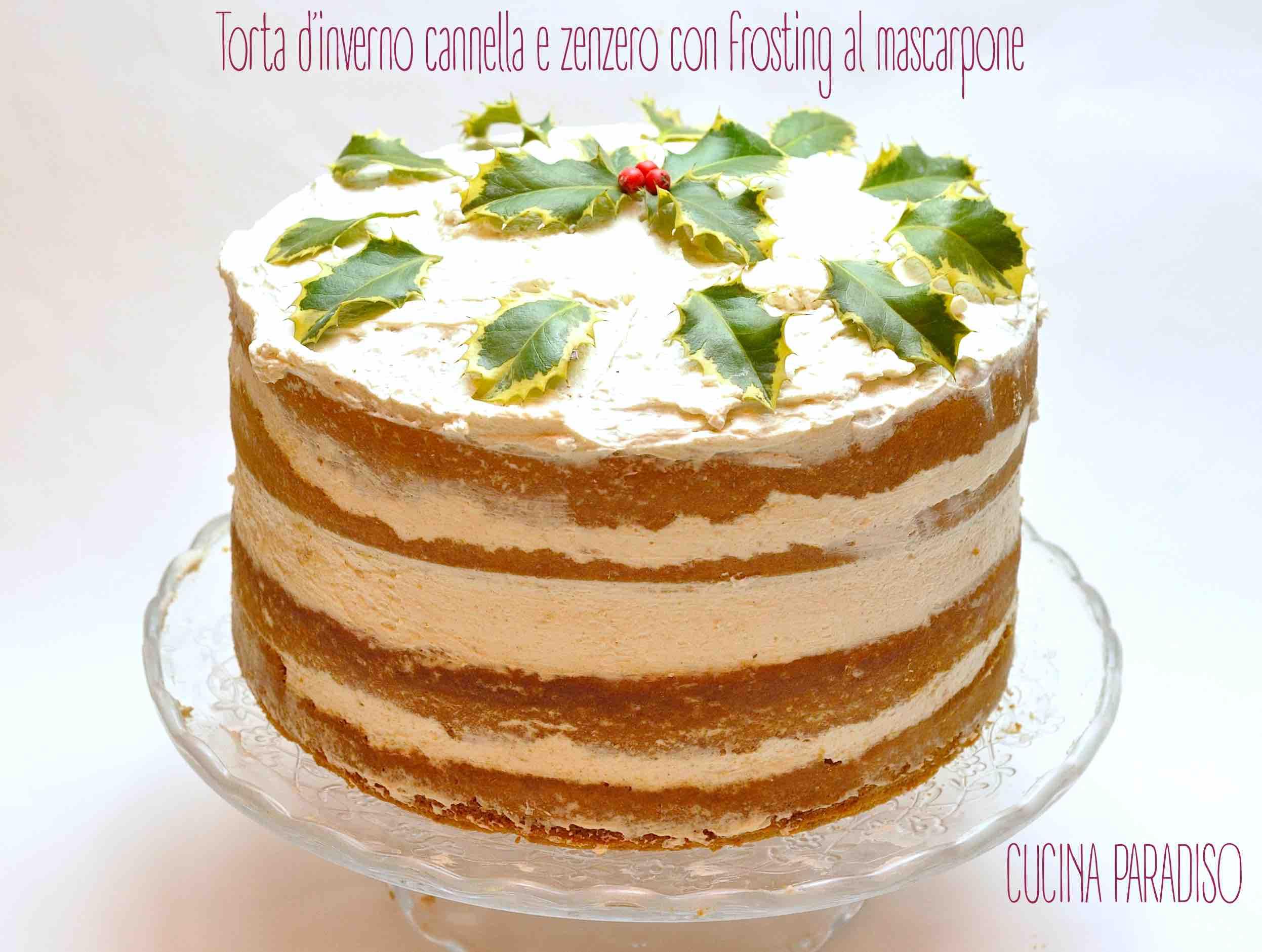 Torta d'inverno cannella e zenzero con frosting al mascarpone 2