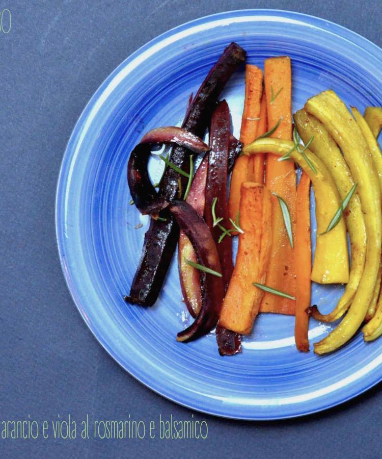 Carotine  gialle,arancio e viola al rosmarino e balsamico