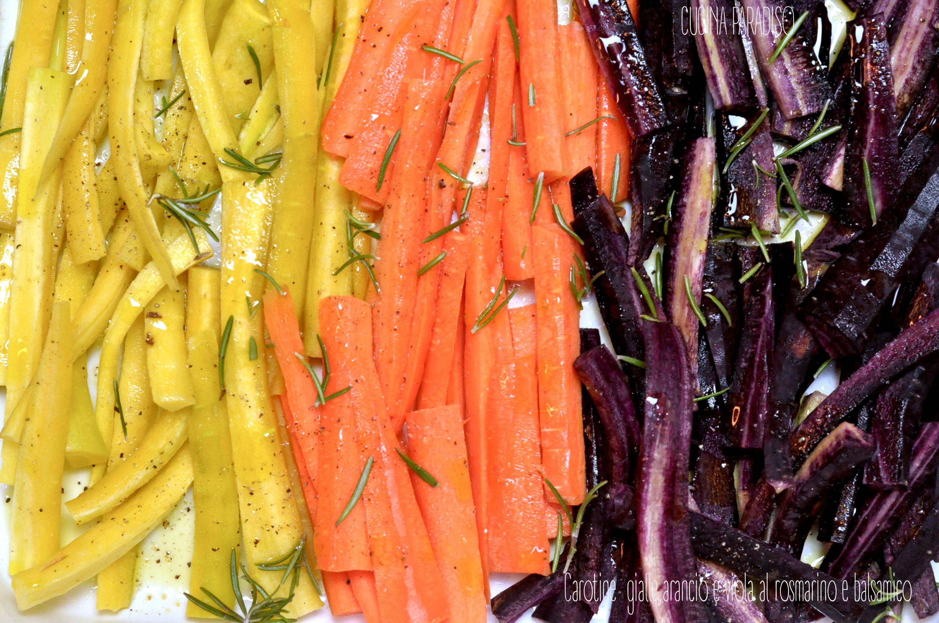 Carotine  gialle,arancio e viola al rosmarino e balsamico3