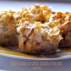 Cestini di carasau con carciofi, stracchino e fiore sardo2