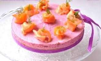 Cheesecake salata alla barbabietola e salmone affumicato2