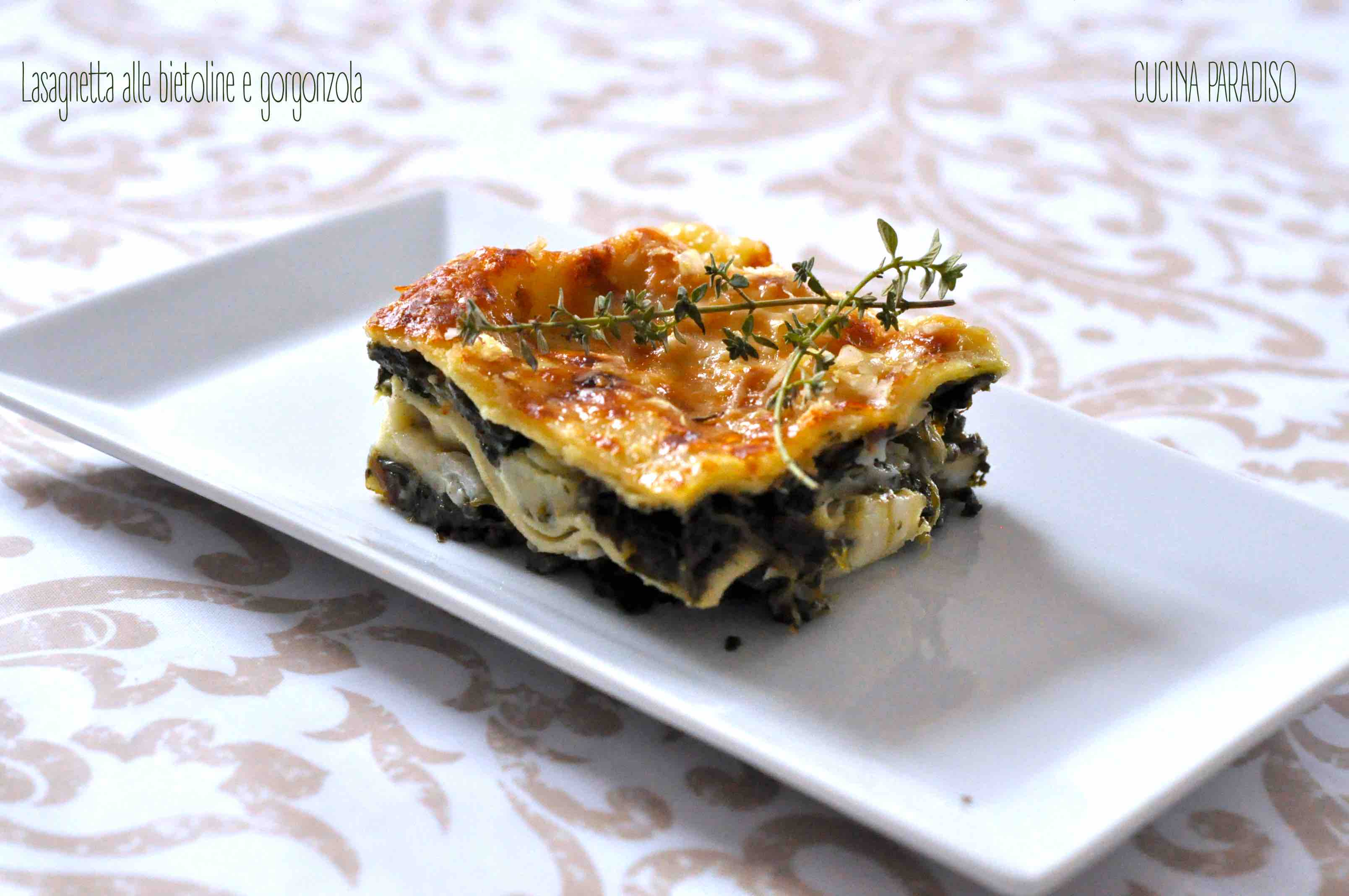 Lasagnetta alle bietoline e gorgonzola