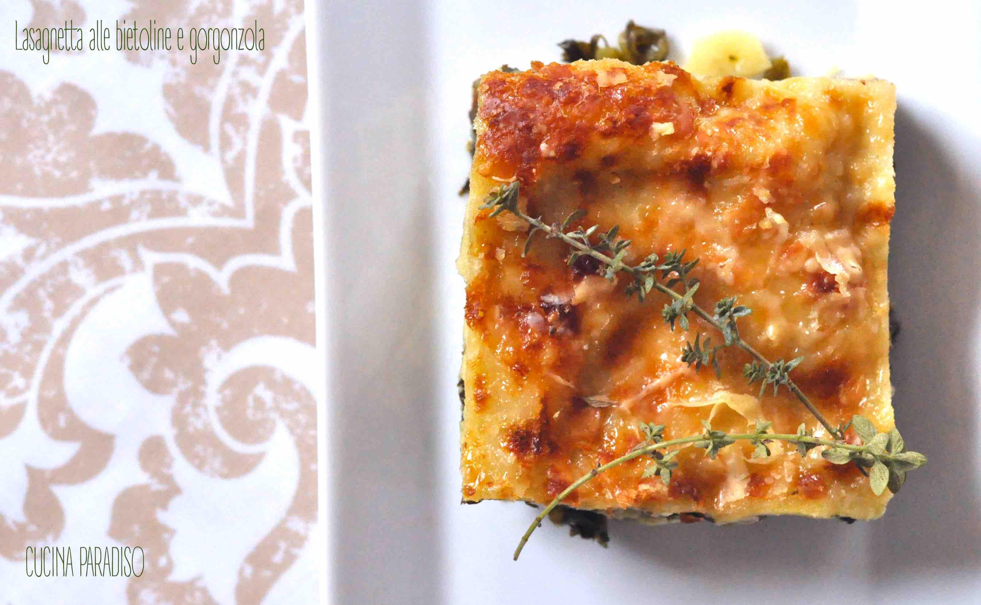 Lasagnetta alle bietoline e gorgonzola2