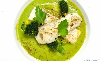 Merluzzo ai broccoli e quinoa croccante