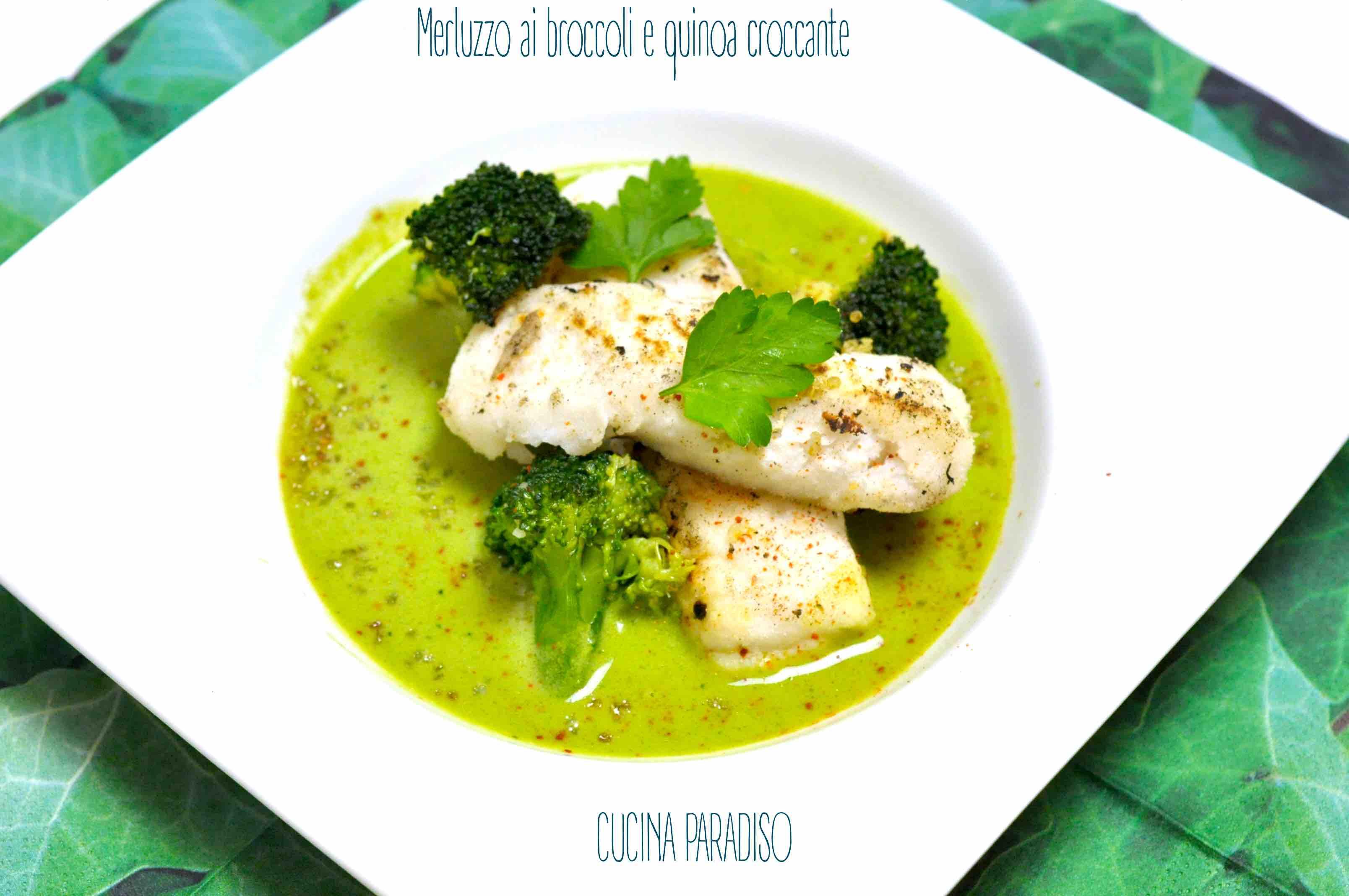 Merluzzo ai broccoli e quinoa croccante2