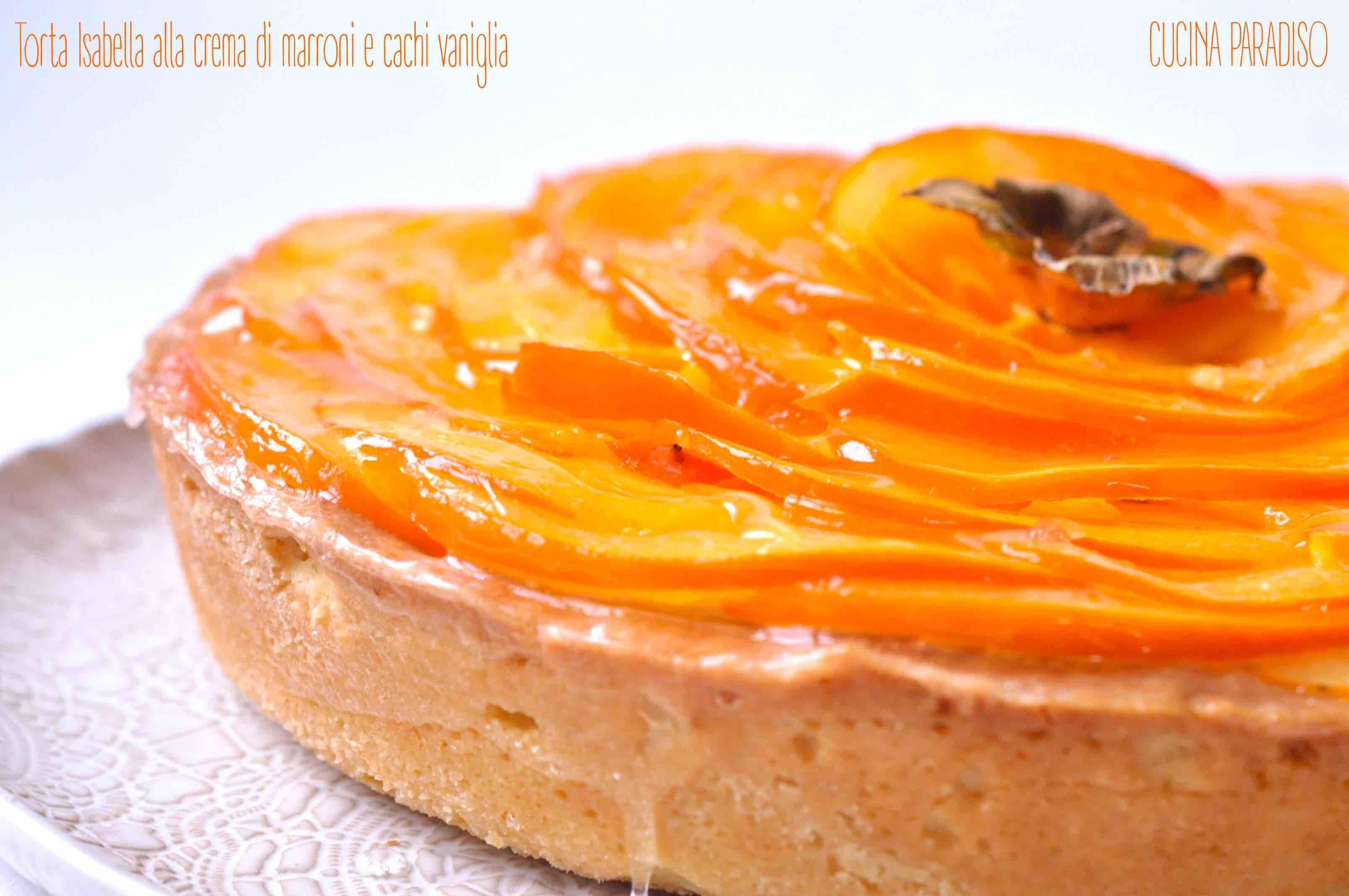 Torta Isabella alla crema di marroni e cachi vaniglia3