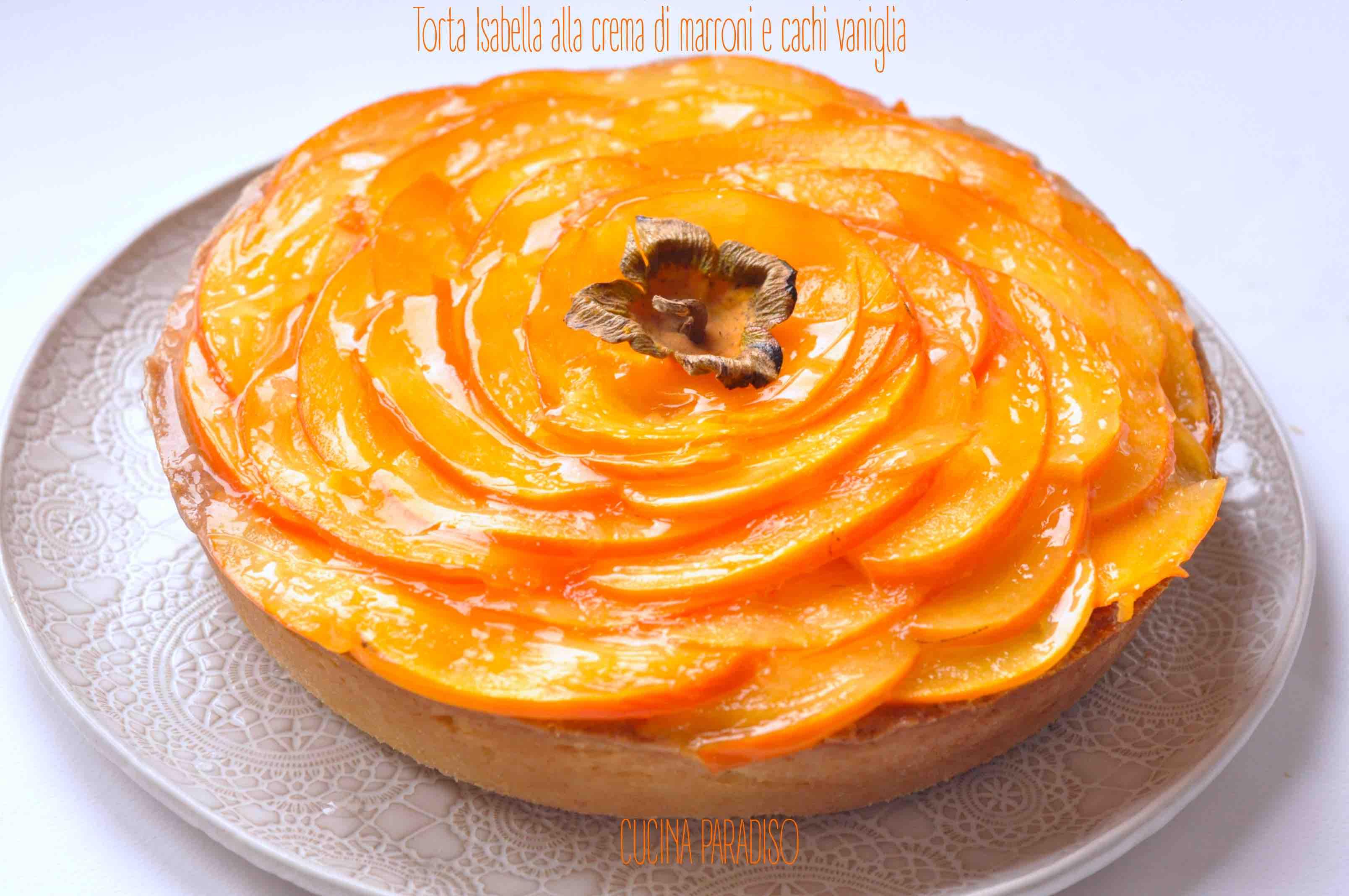 Torta Isabella alla crema di marroni e cachi vaniglia4