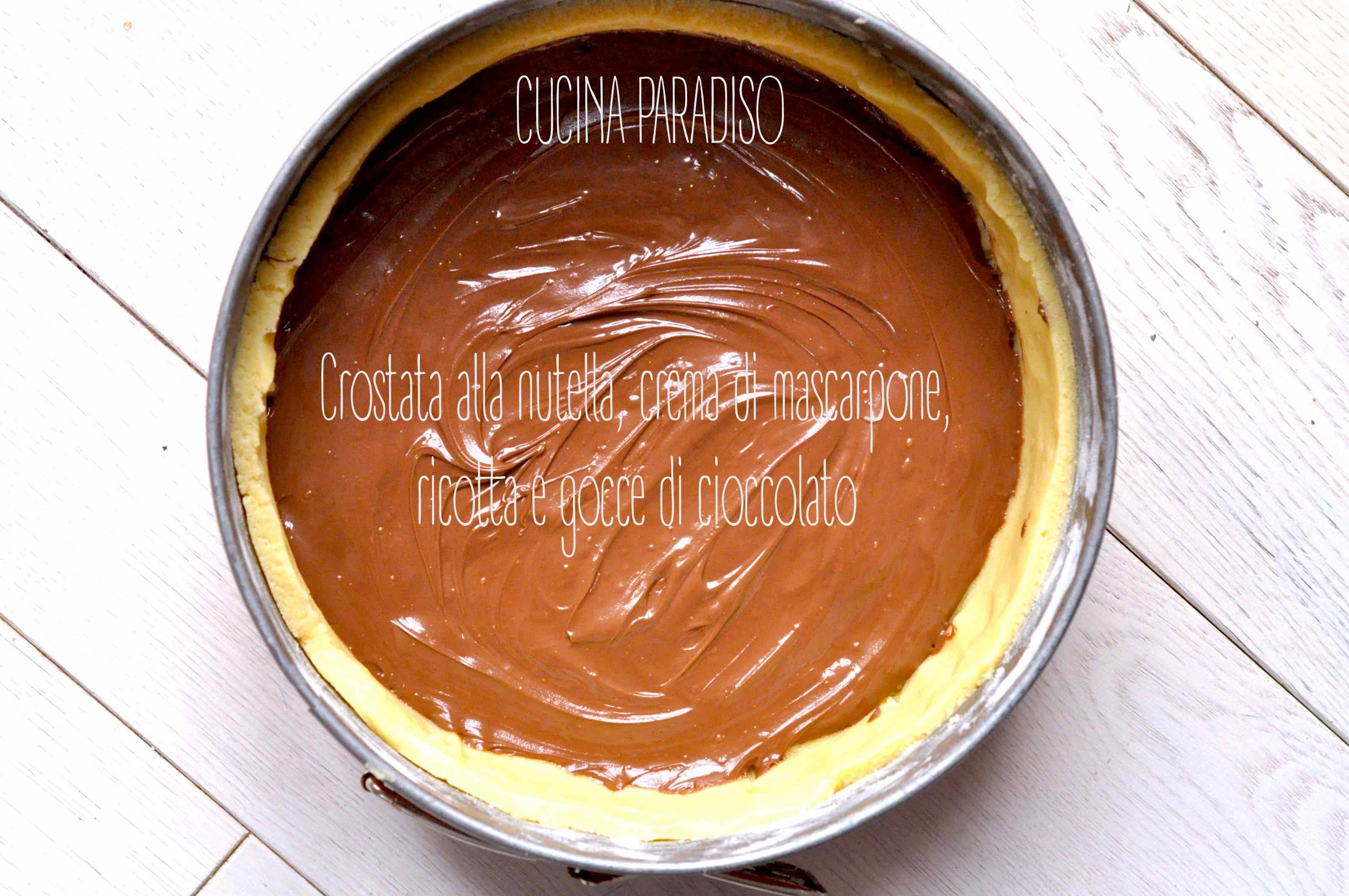 Crostata Al Mascarpone Ricotta E Nutella Cucina Paradiso