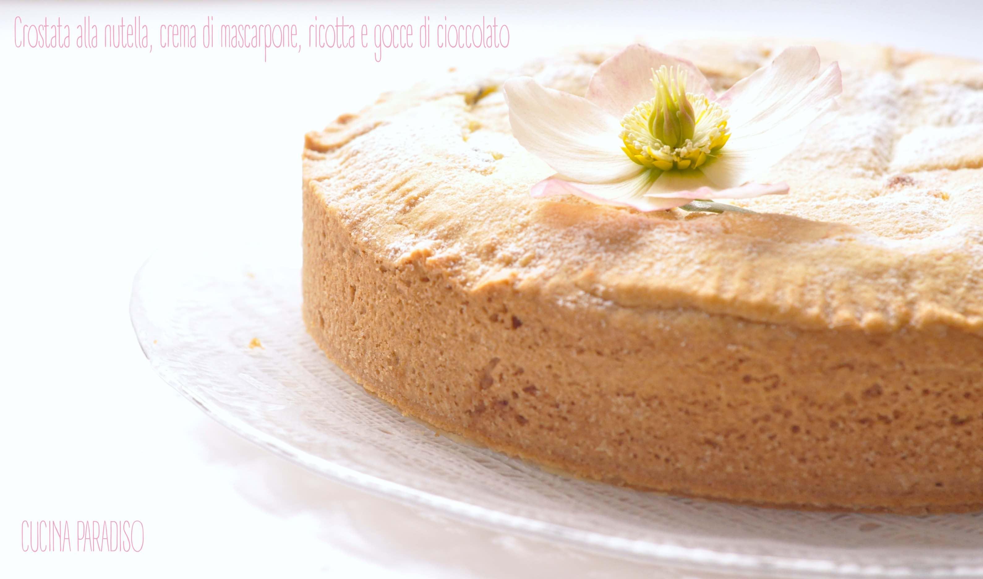 Crostata alla nutella, crema di mascarpone, ricotta e gocce di cioccolato2
