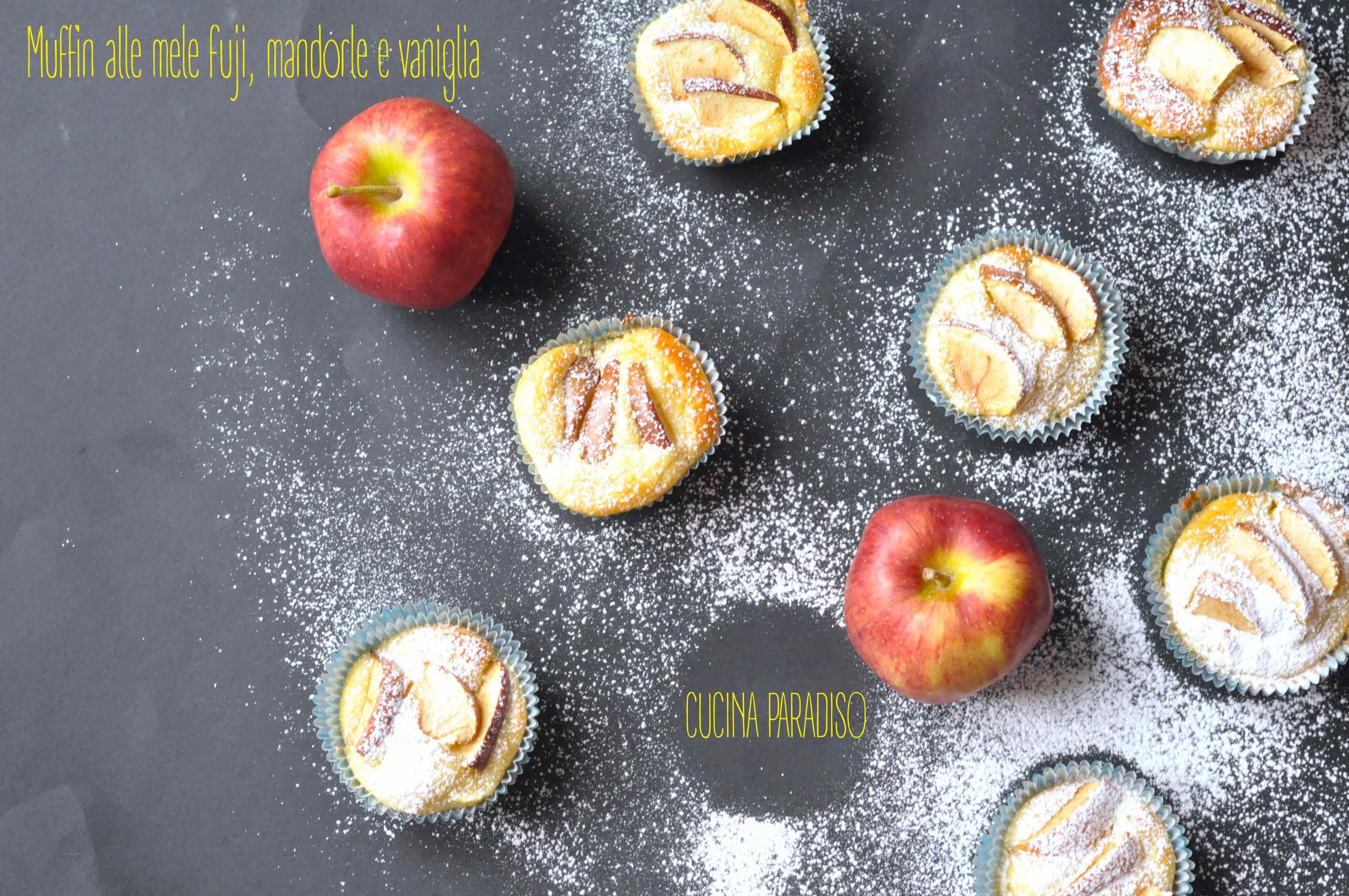 Muffin alle mele fuji, mandorle e vaniglia2