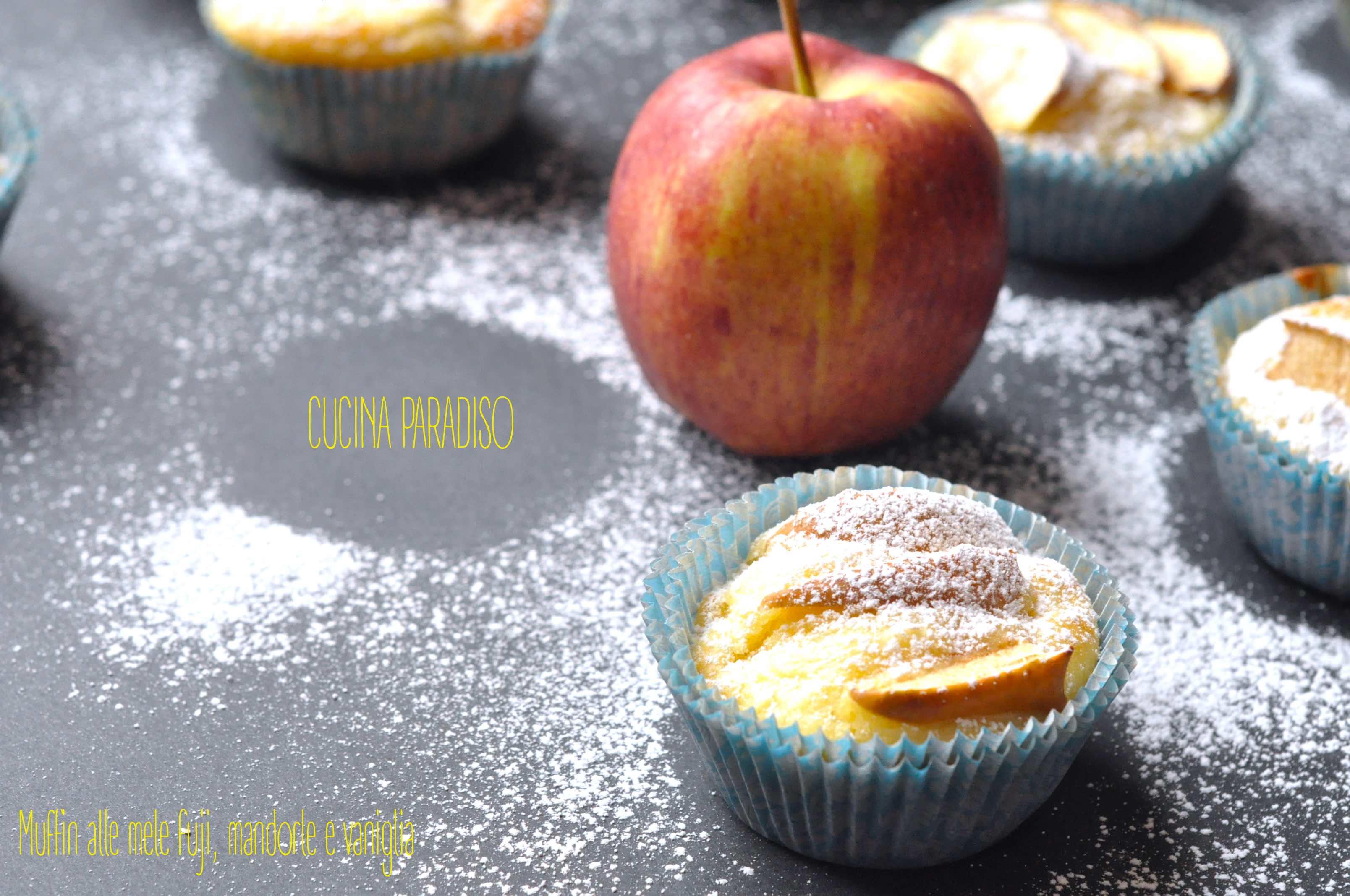 Muffin alle mele fuji, mandorle e vaniglia4