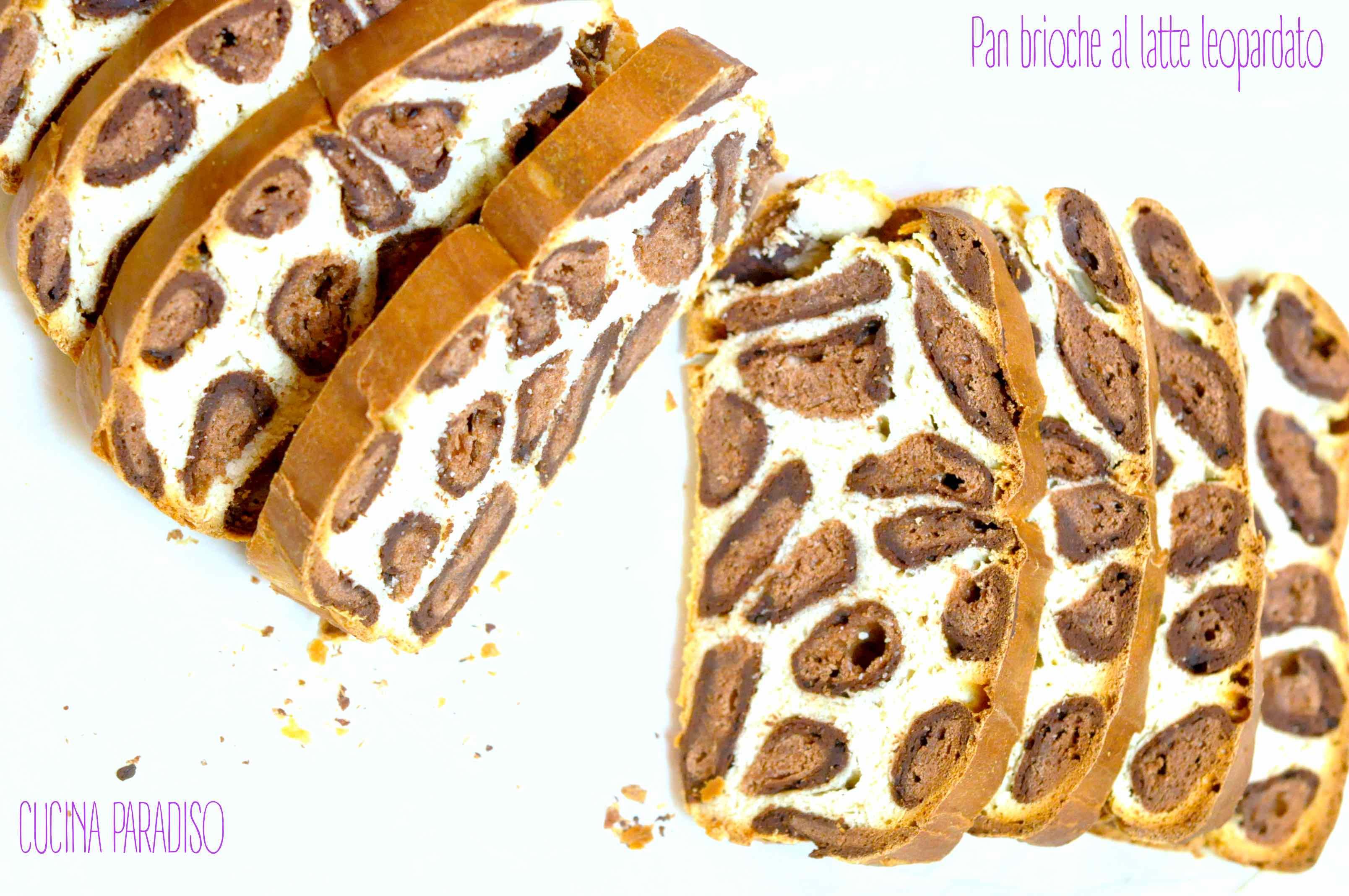Pan brioche al latte leopardato3