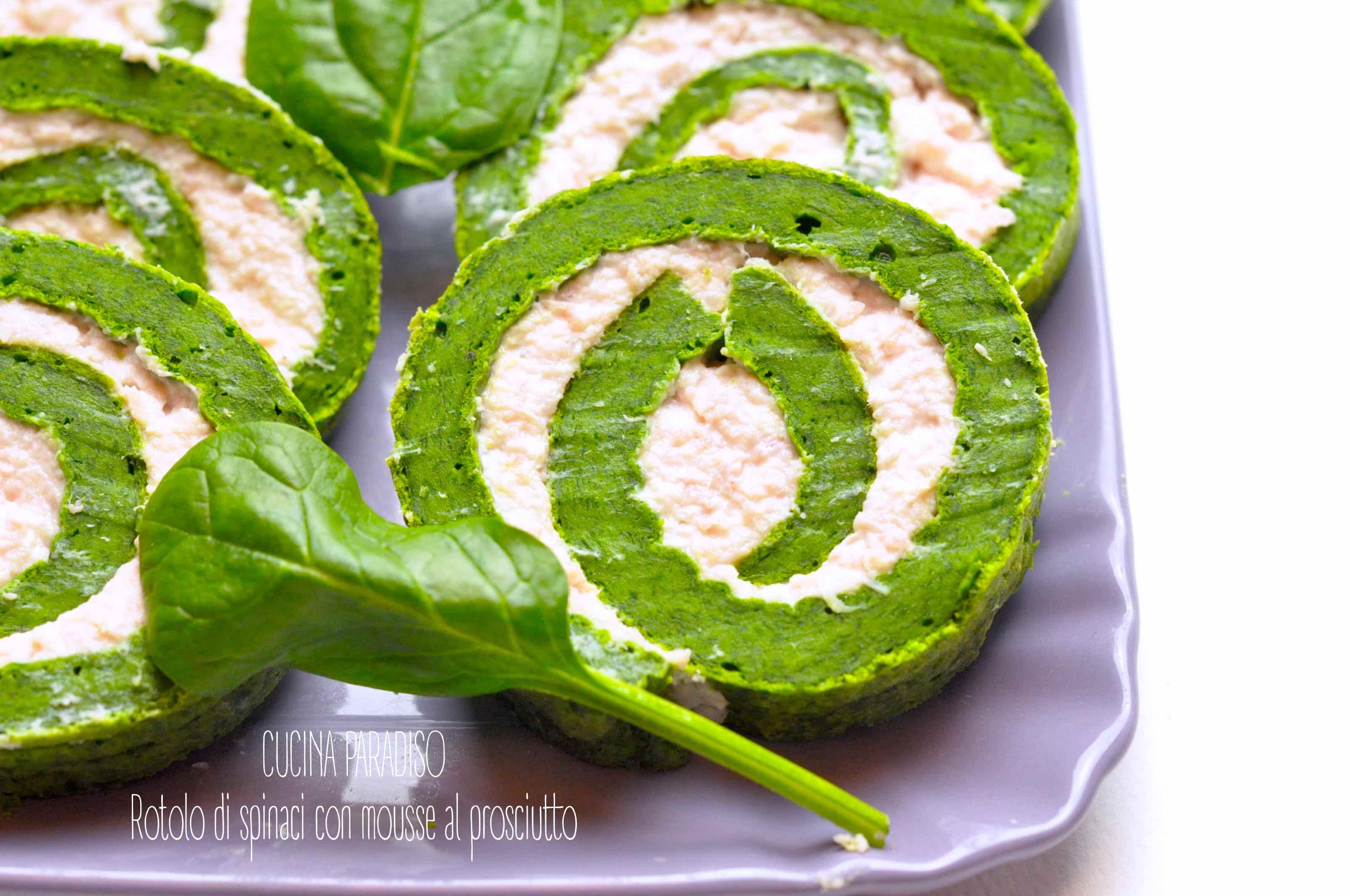 Rotolo di spinaci con mousse al prosciutto3