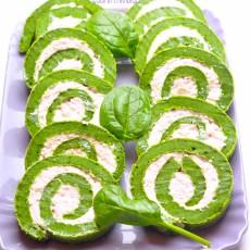 Rotolo di spinaci con mousse al prosciutto4