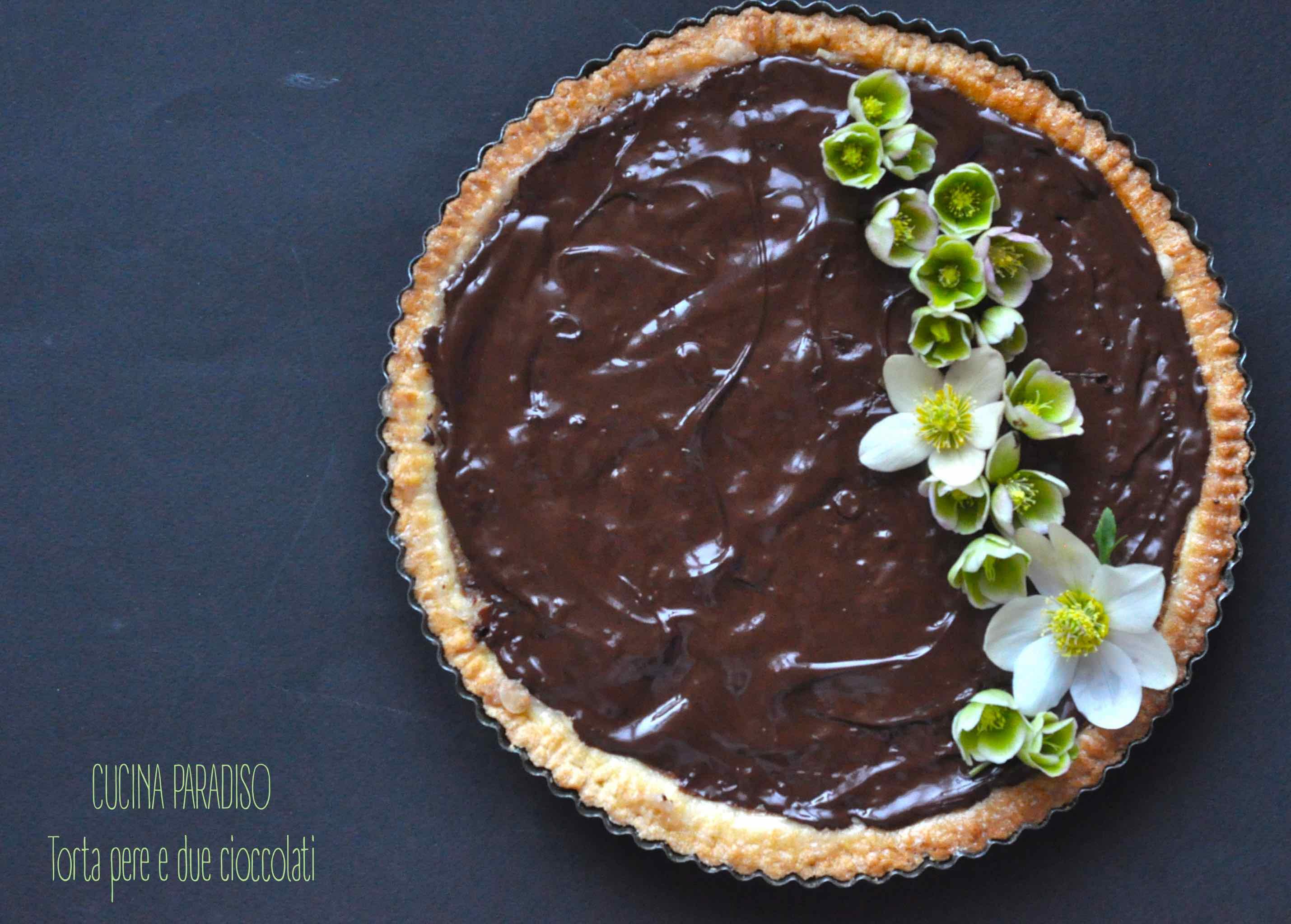 Torta pere e due cioccolati5