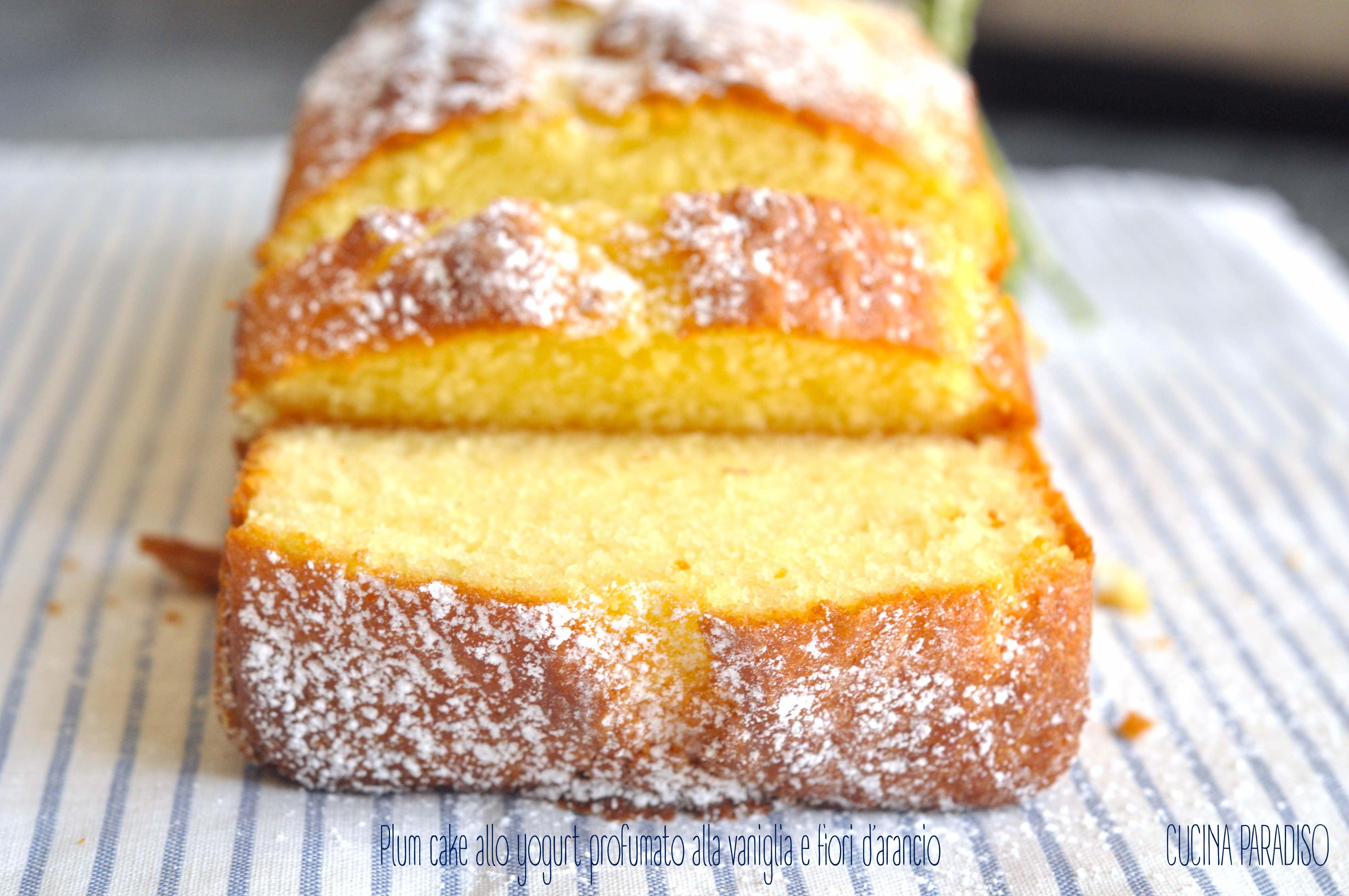 Plum cake allo yogurt profumato alla vaniglia e fiori d'arancio4