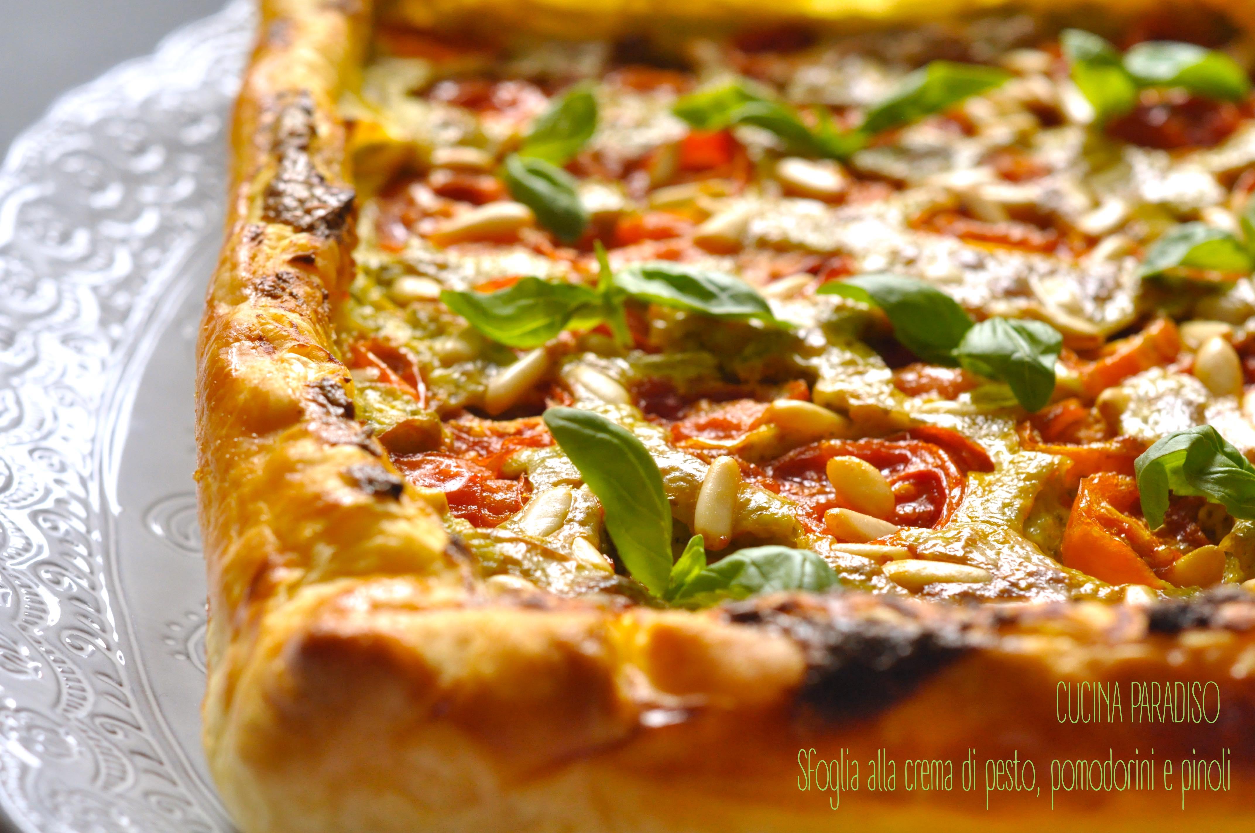 Sfoglia alla crema di pesto, pomodorini e pinoli2