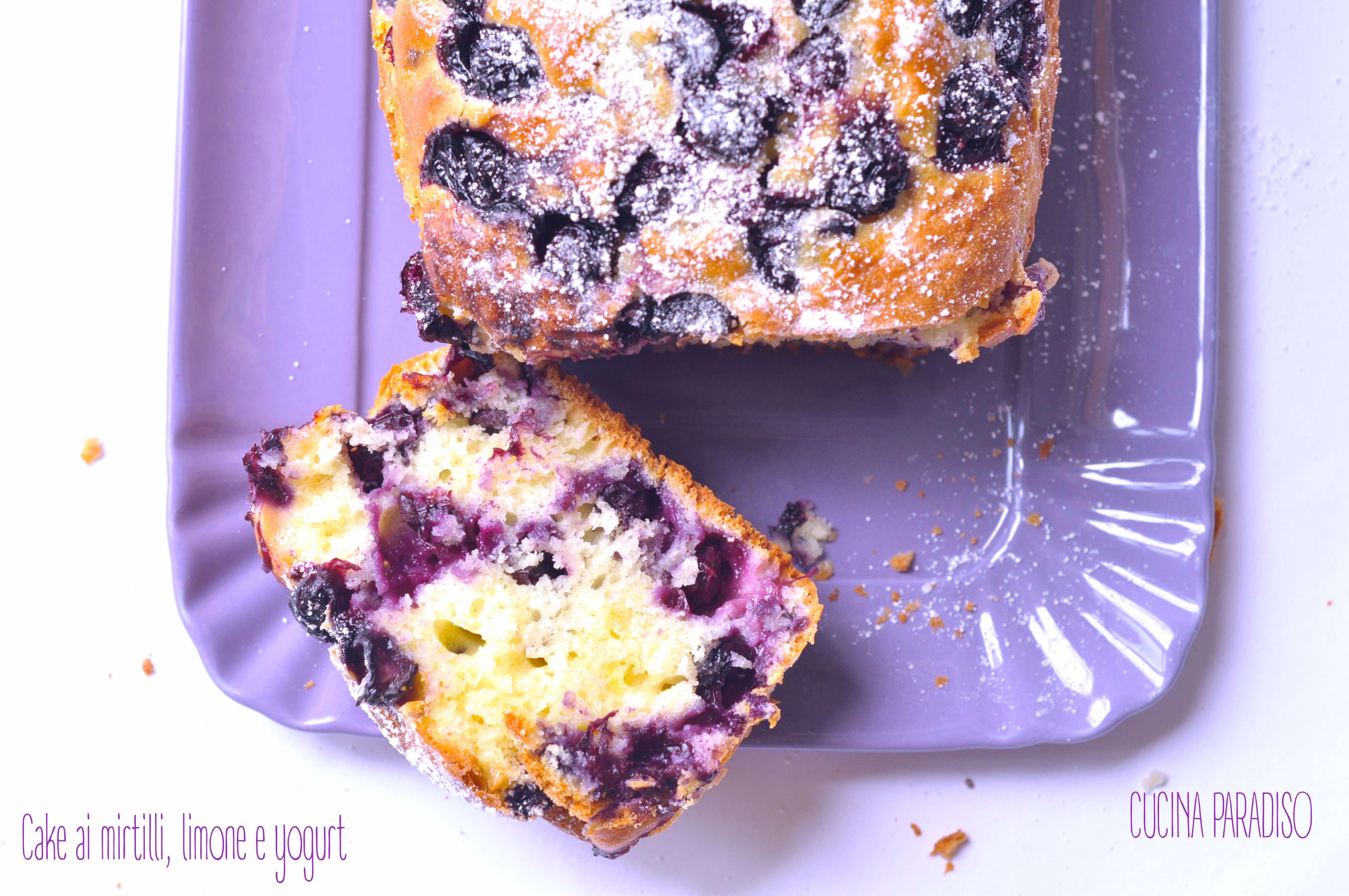 Cake ai mirtilli, limone e yogurt