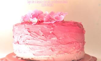 Layer cake ai lamponi e cioccolato con buttercream sfumata5