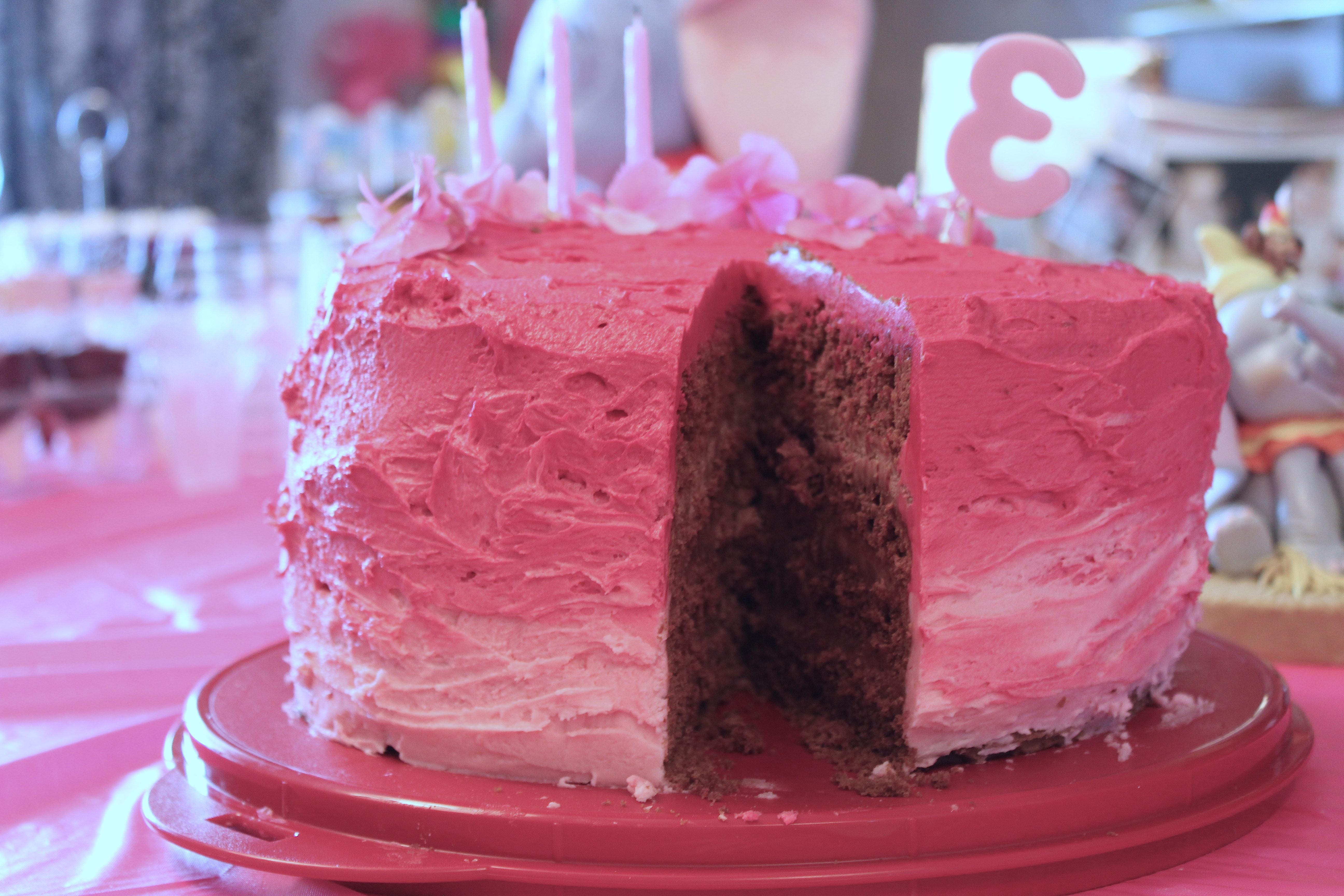 Layers cake al cioccolato e lamponi12
