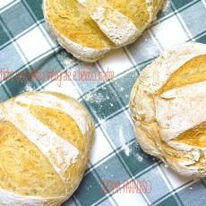 Pagnotte rustiche con farina integrale e lievito madre