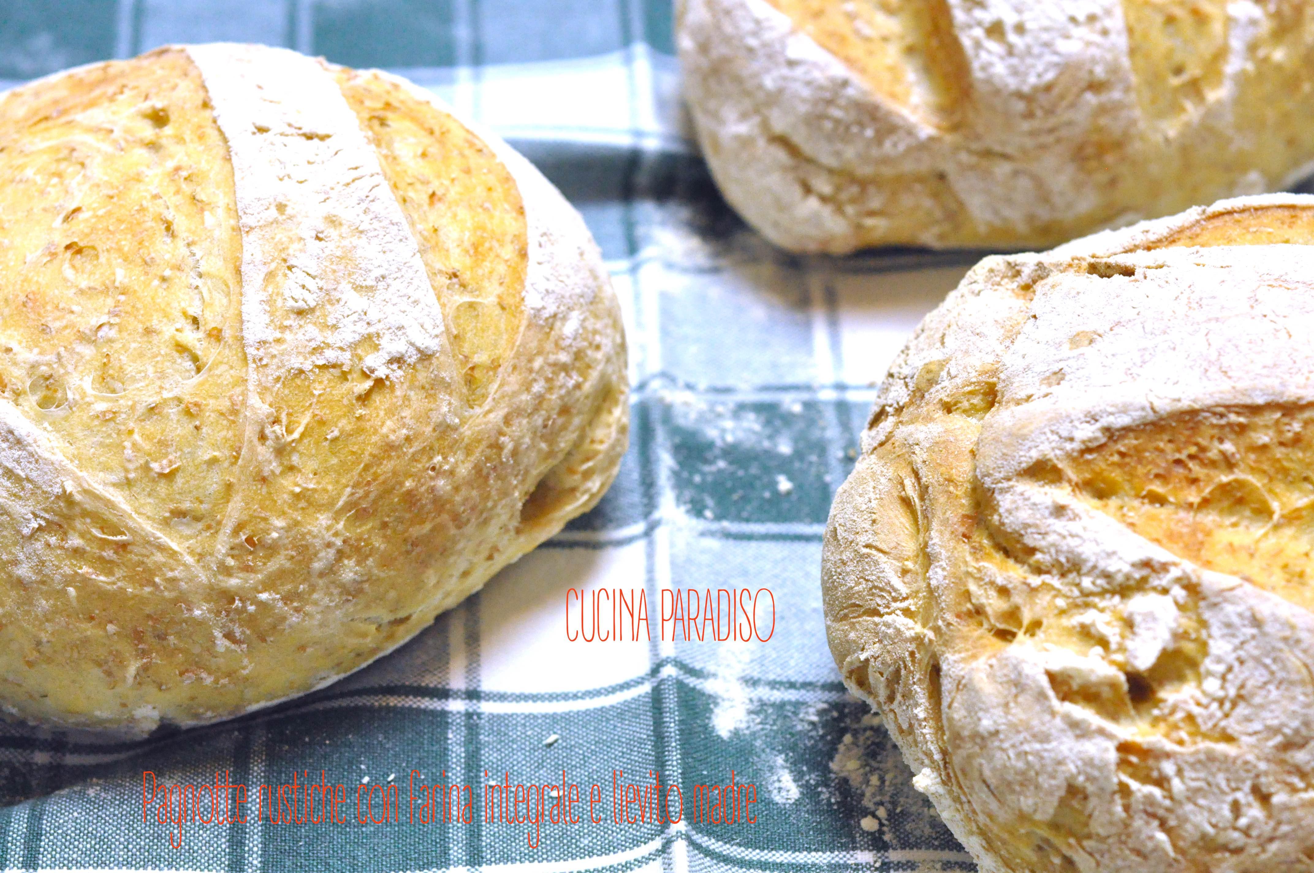 Pagnotte rustiche con farina integrale e lievito madre2
