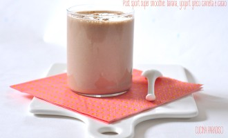 Post sport super smoothie- banana, yogurt greco cannella e cacao2