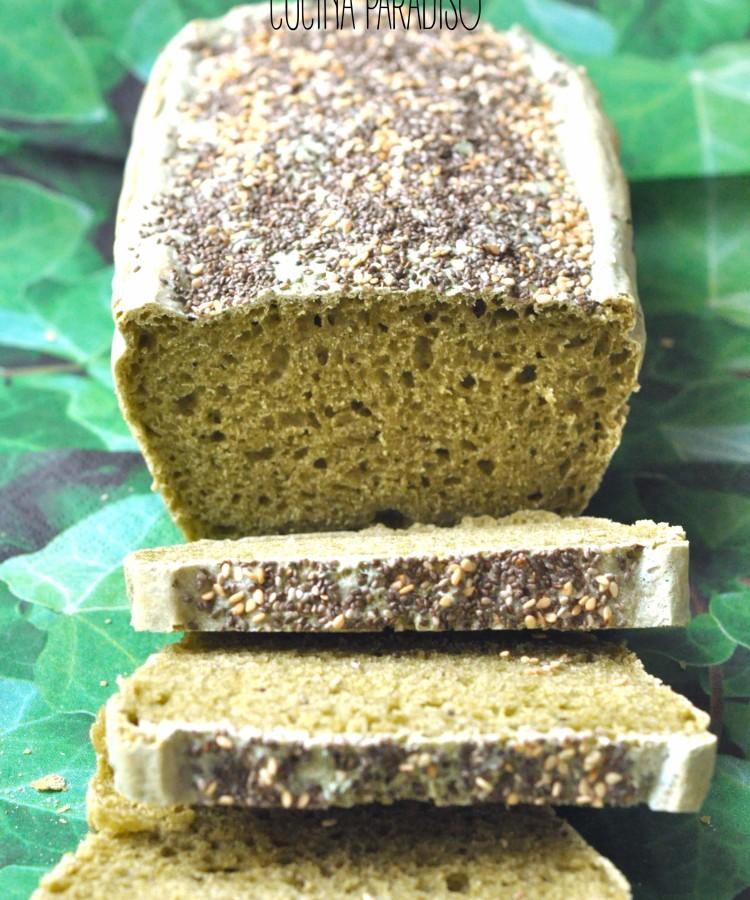 Pane alla spirulina e semi di chia - super healthy bread2