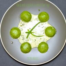 Ravioli verdi ai cipollotti su crema di Saint' Agur8