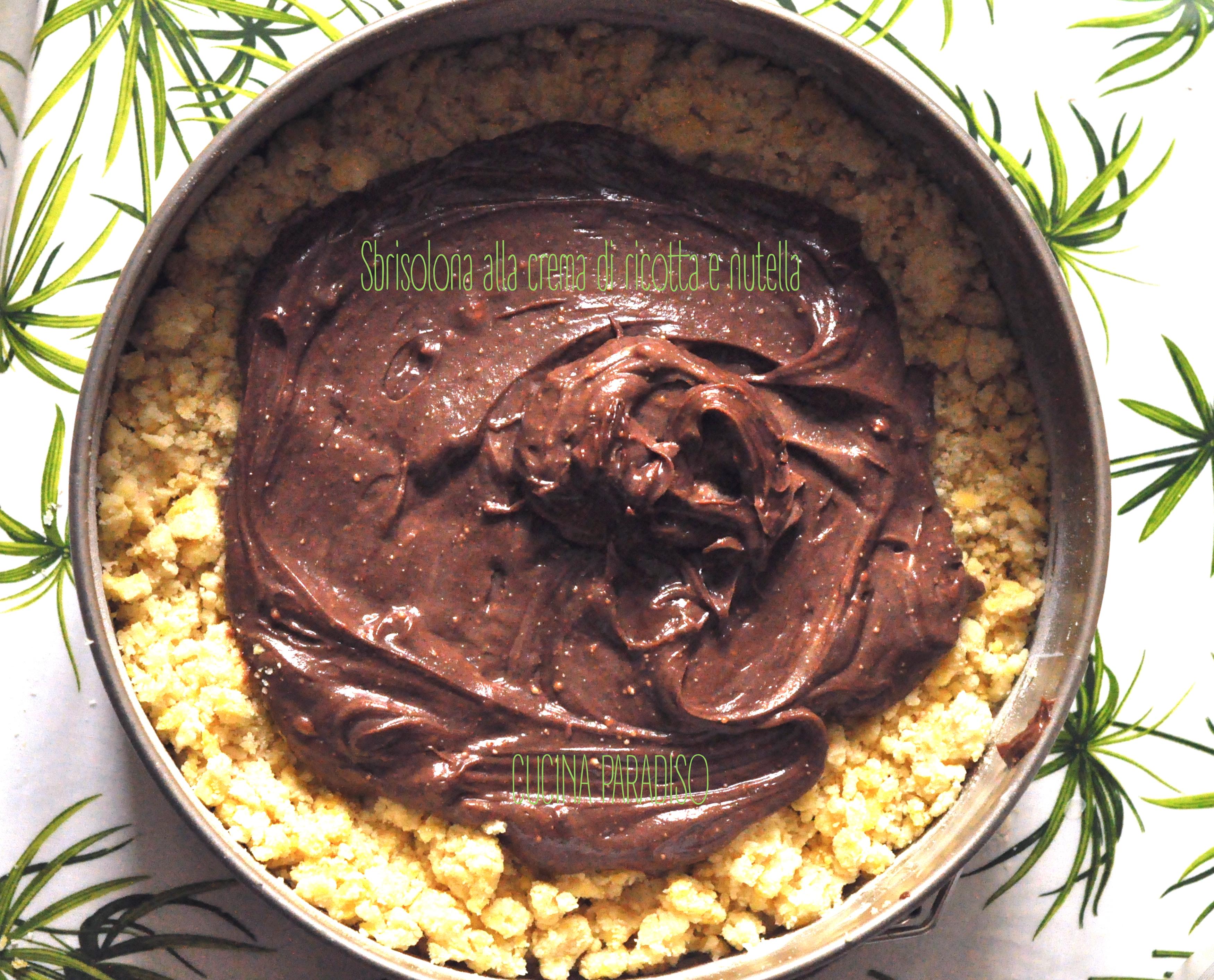 Sbrisolona alla crema di ricotta e nutella2